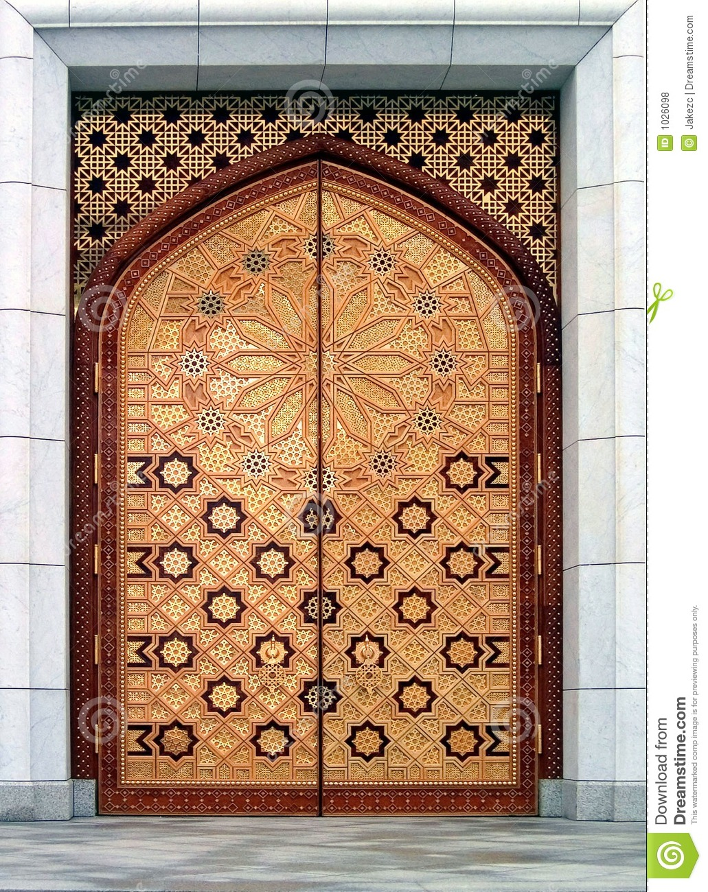 Door The Kiptchak Mosque In Turkmenistan Stock Photo