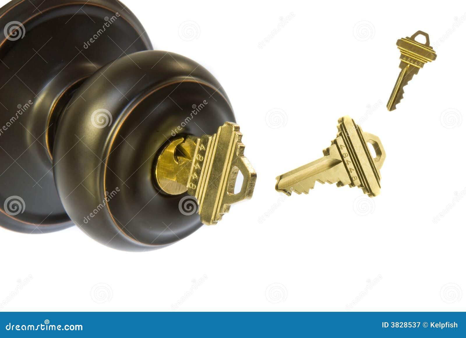 Door Knob and keys stock image. Image of door, keys, entry - 3828537