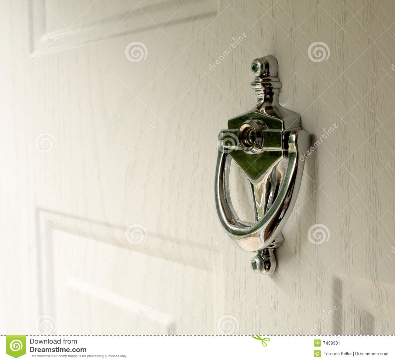 Door Knocker Stock Image Image 7439381