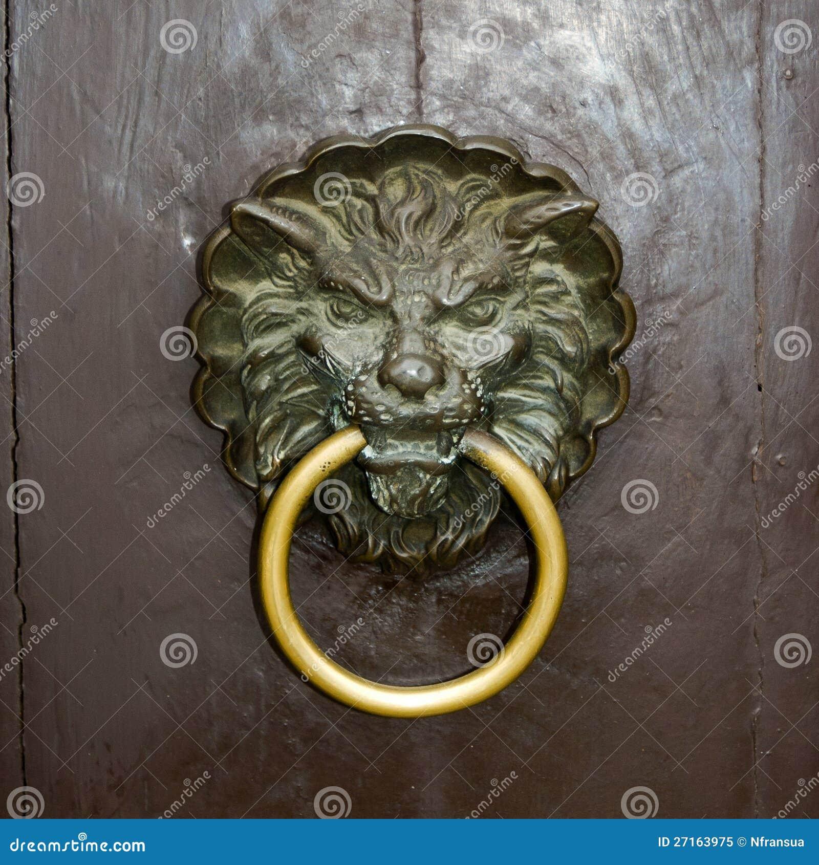 Door Knocker Lion Royalty Free Stock Photo Image 27163975