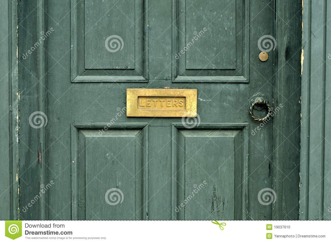 Door With Letter Box Stock Photo Image Of Letterbox