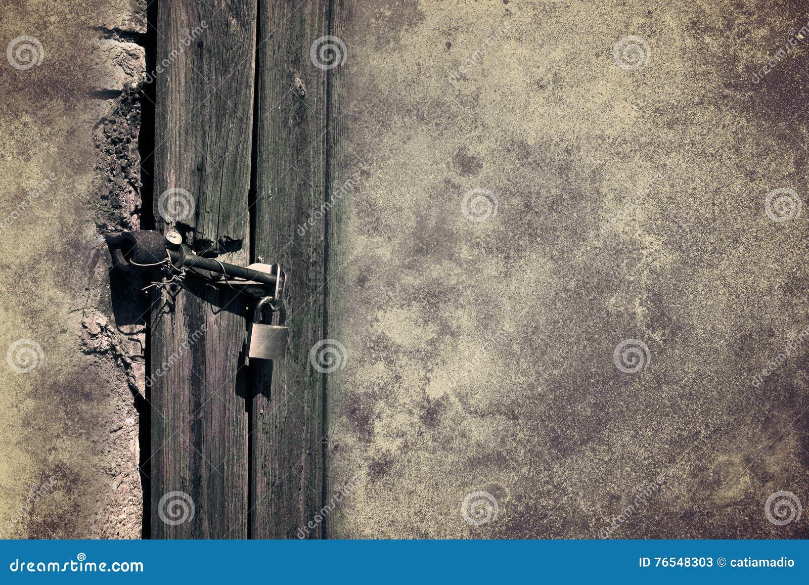 Door Lock Abstract Background