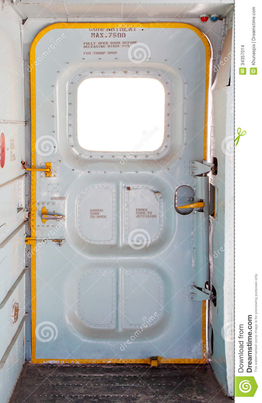 Door Of Military Plane Inside Stock Photo Image 34357014
