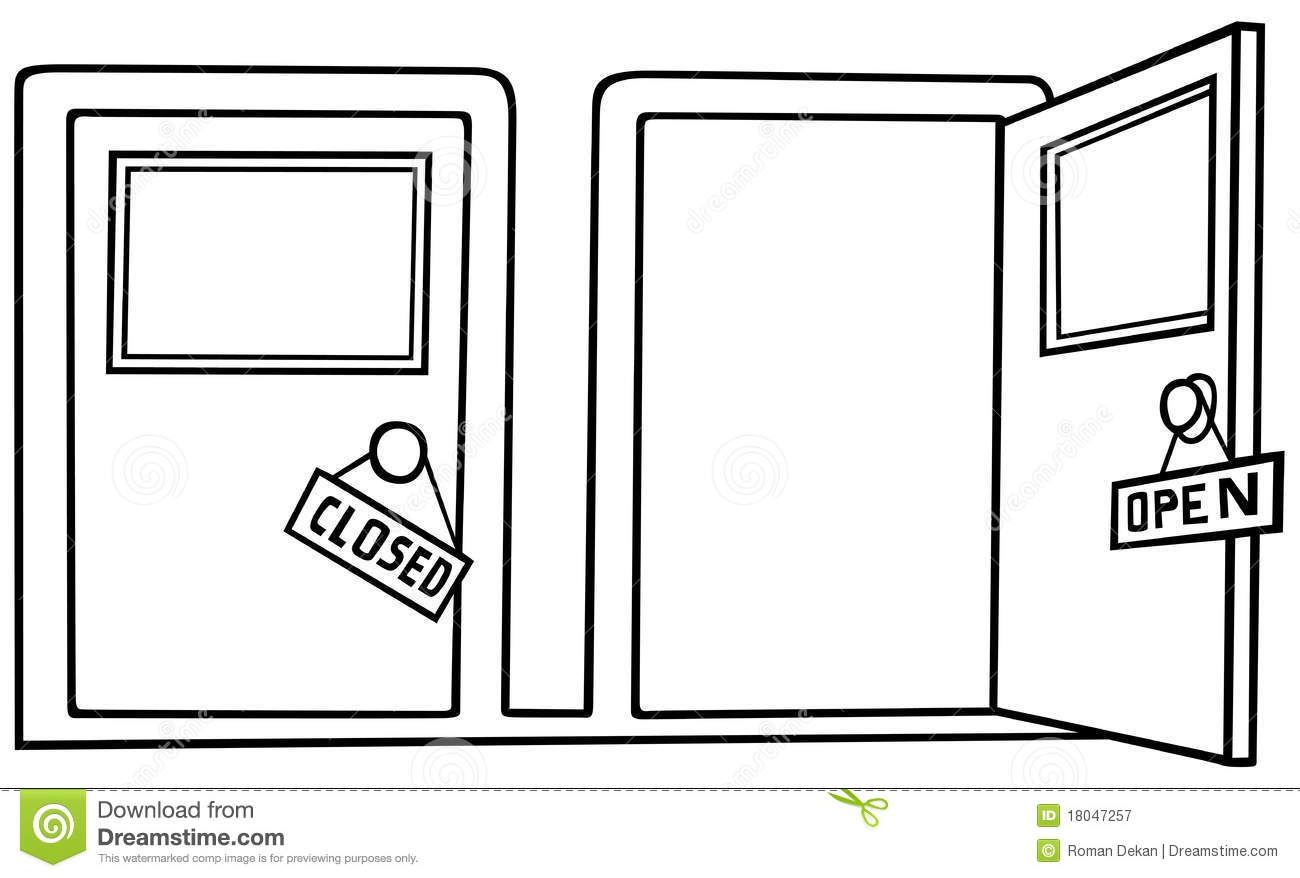 Royalty-Free Stock Photo. Download Door Open And Close ...  sc 1 st  Dreamstime.com & Door Open And Close Royalty Free Stock Photography - Image: 18047257 pezcame.com