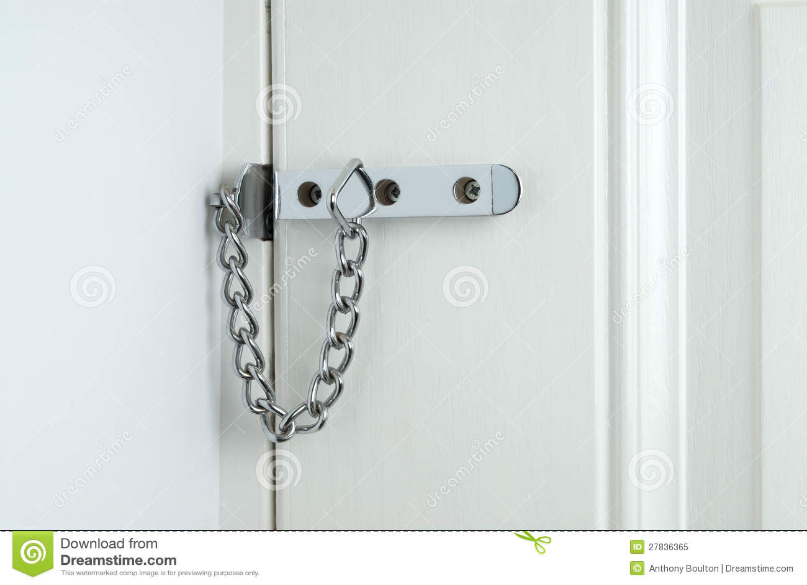 Door security chain stock image. Image of anti, theft - 27836365