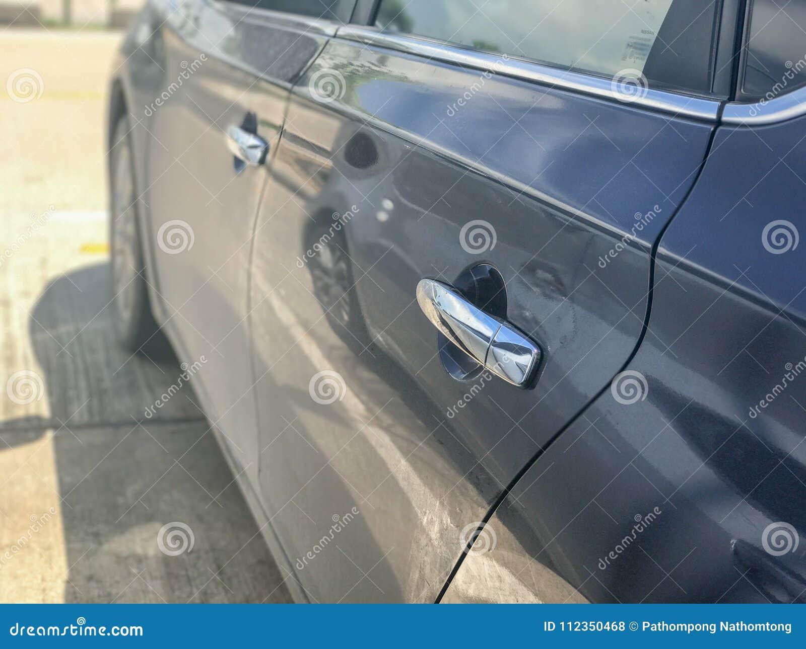 Door of the side modern car