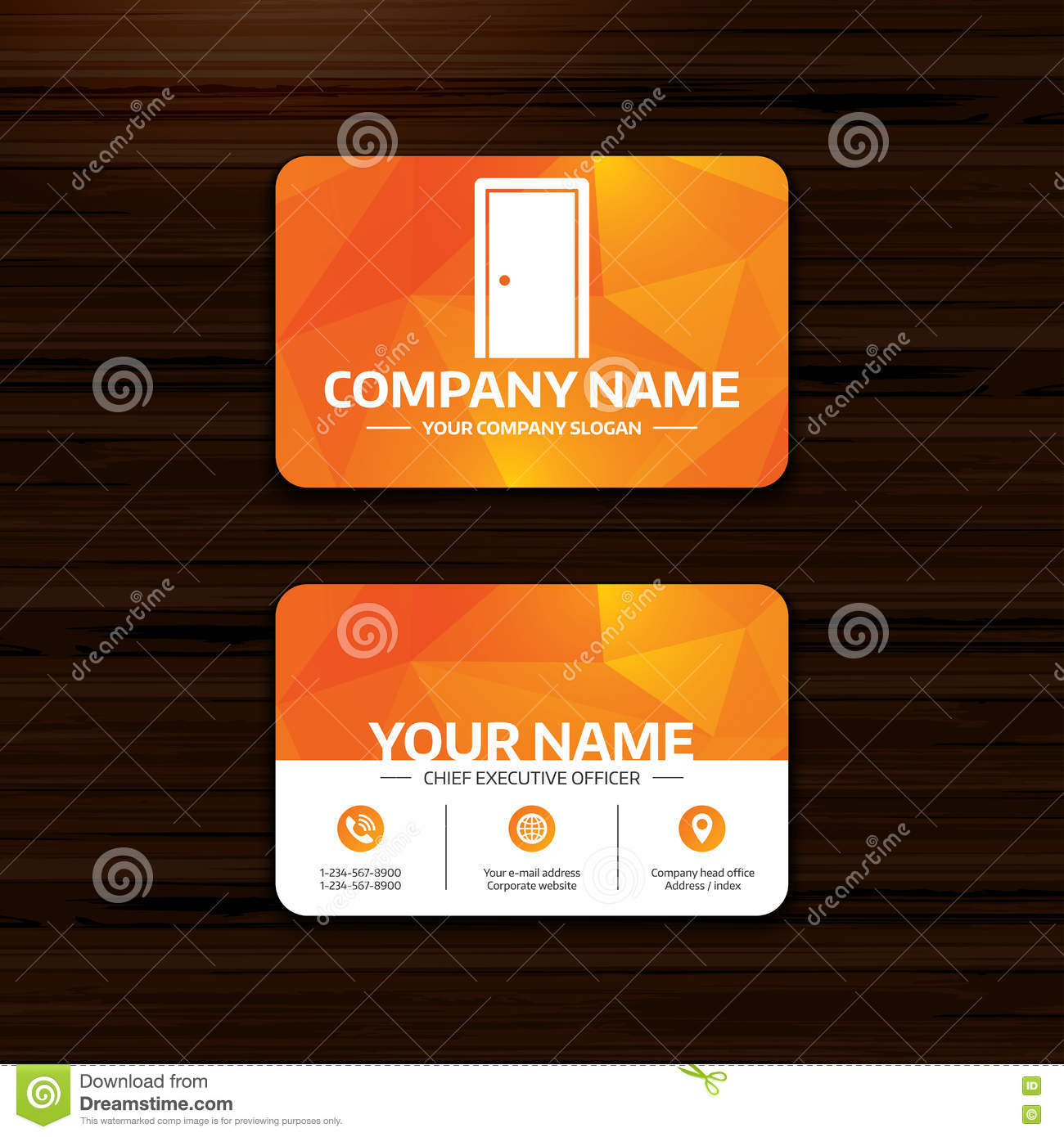 Door Sign Icon. Enter Or Exit Symbol. Stock Vector - Illustration of ...