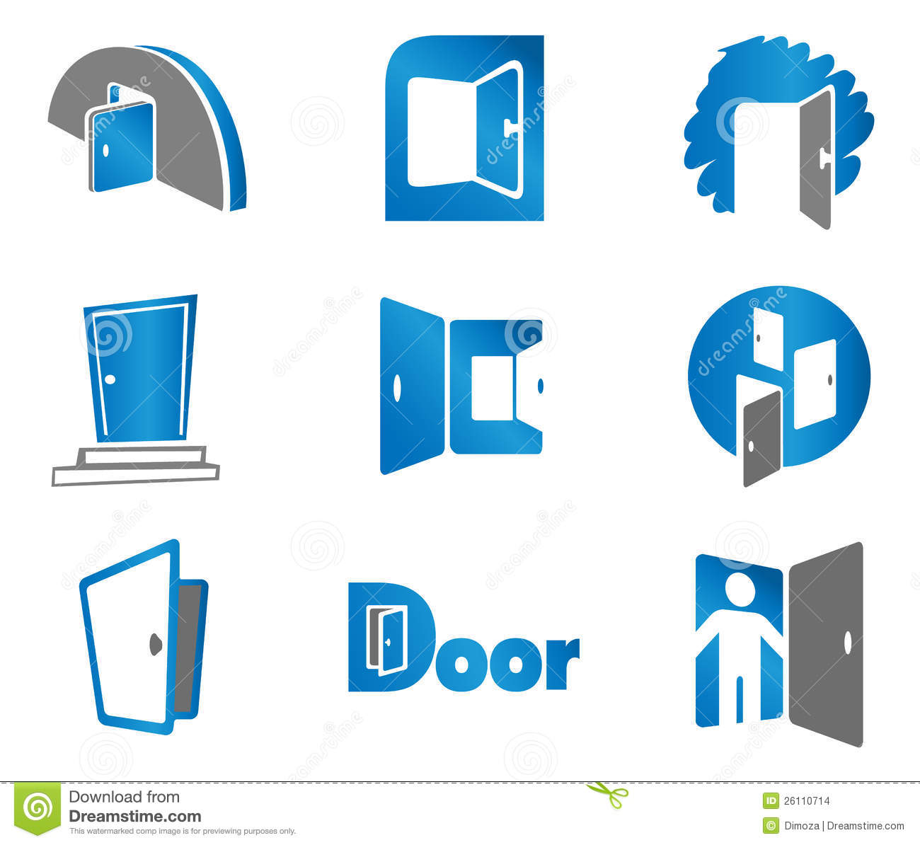 door symbols and icons stock images image 26110714