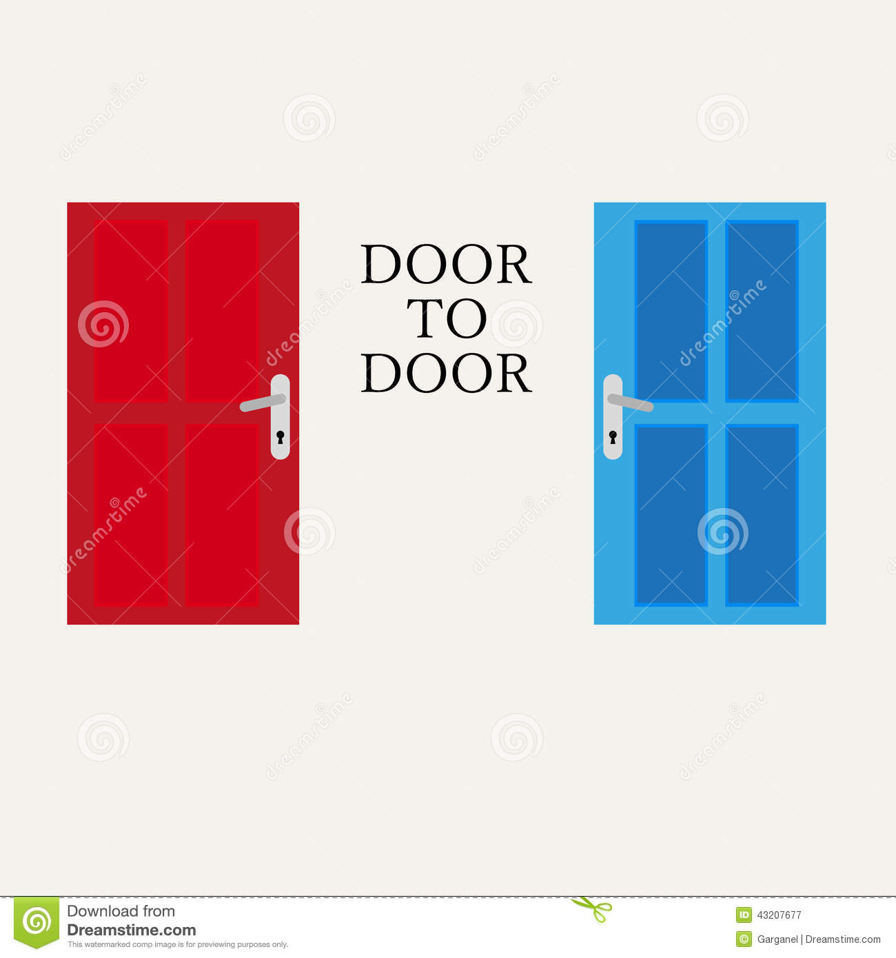 door to door graphic stock illustration image 43207677