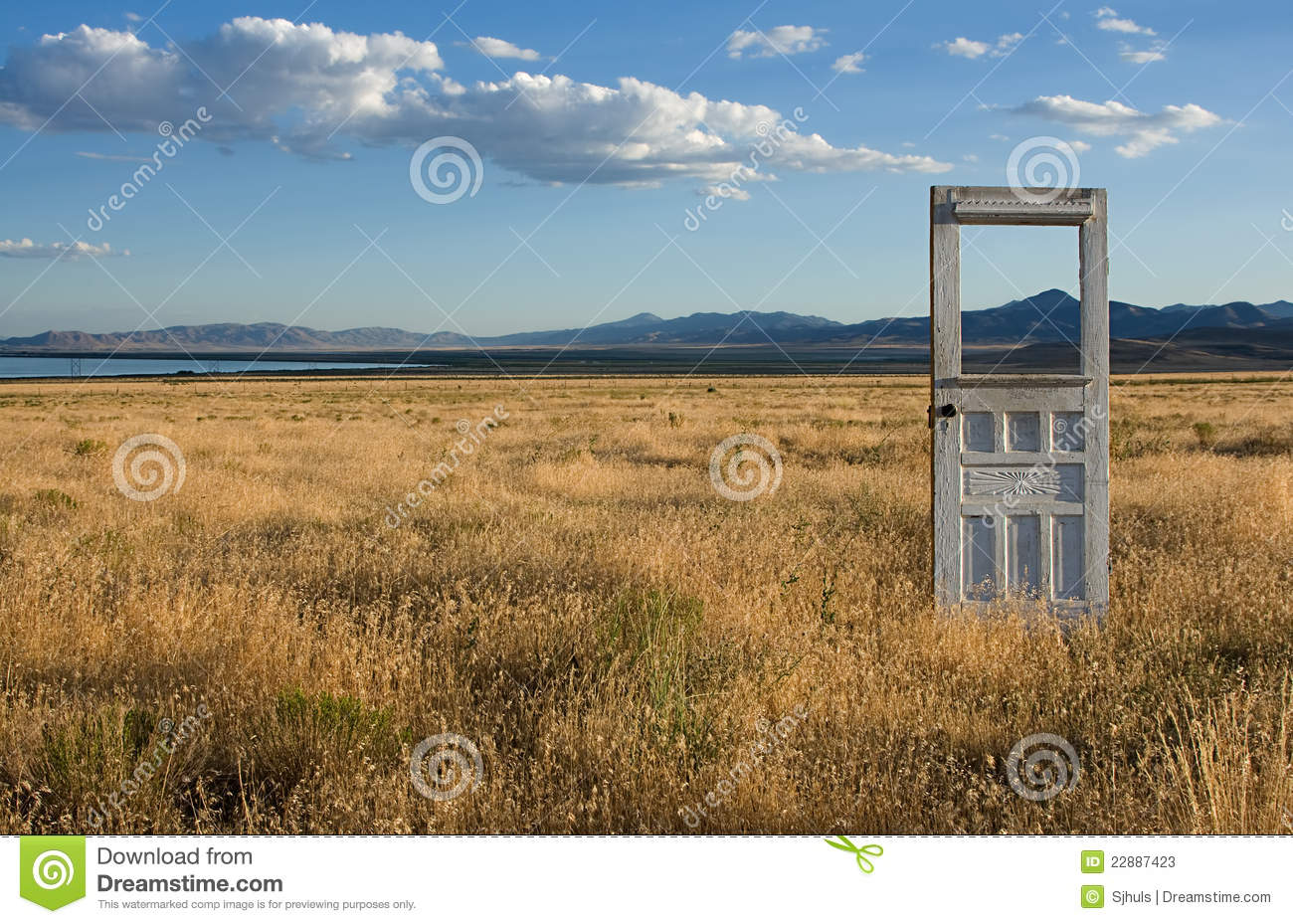 Door to a Mountain Landscape & Door To A Mountain Landscape Stock Image - Image of grasses ...
