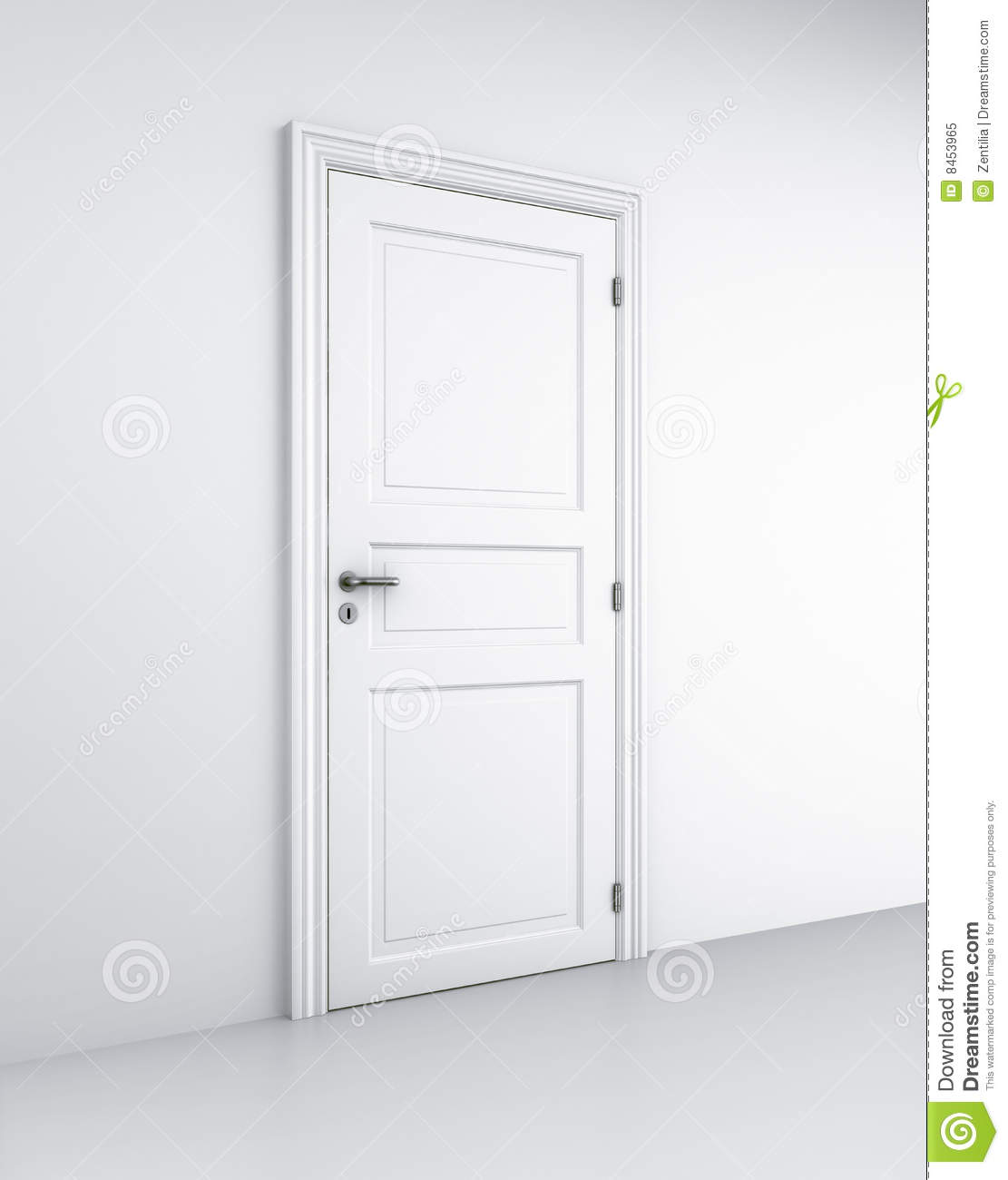 Door in white room & Door in white room stock illustration. Illustration of closed ...