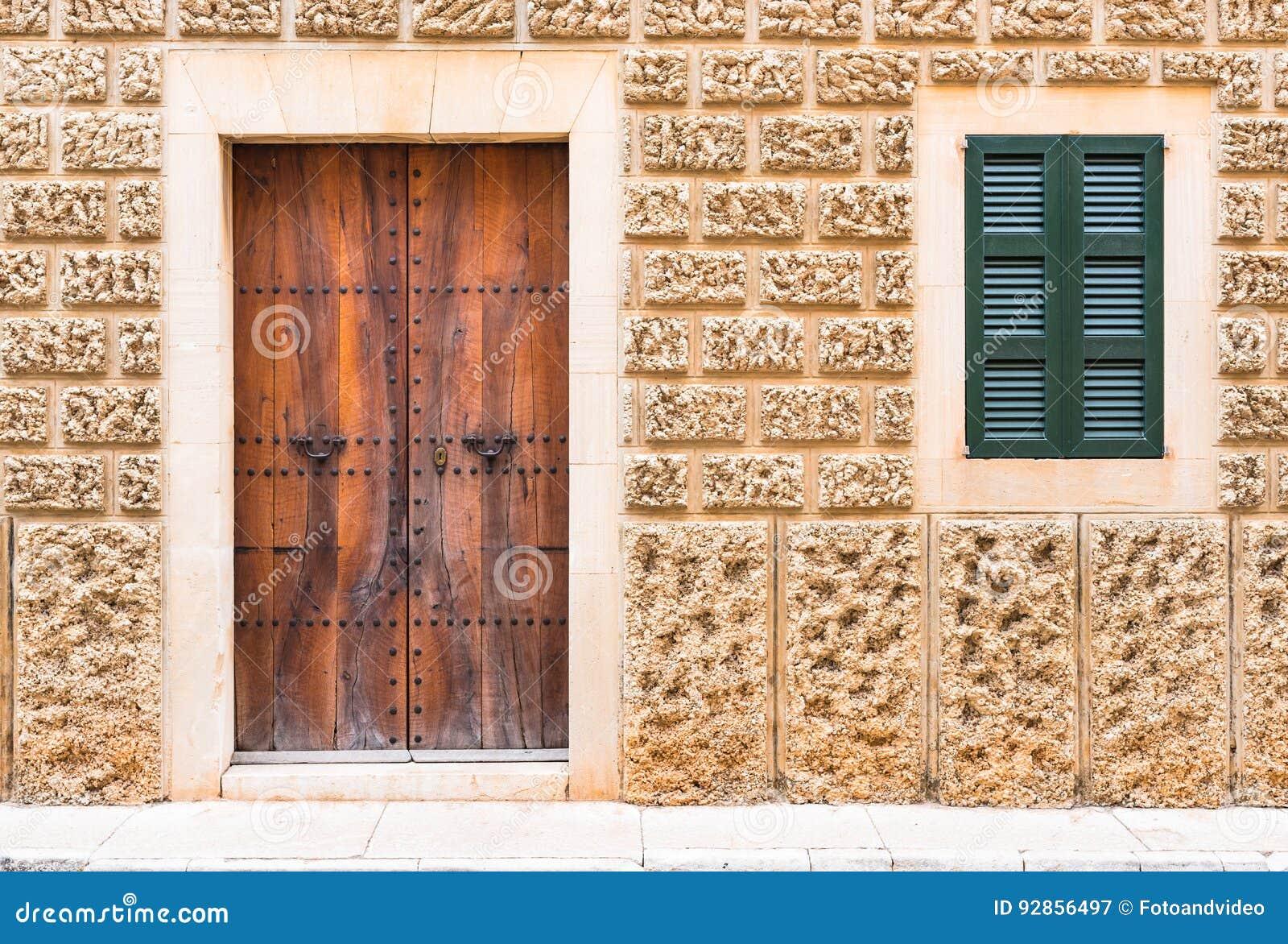Door and Window of an Mediterranean House