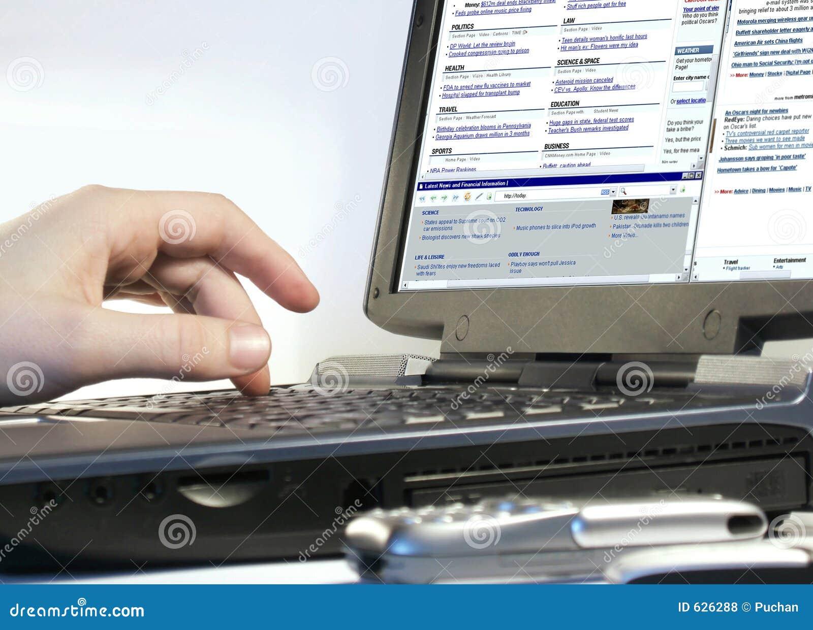 Doorbladerend Internet