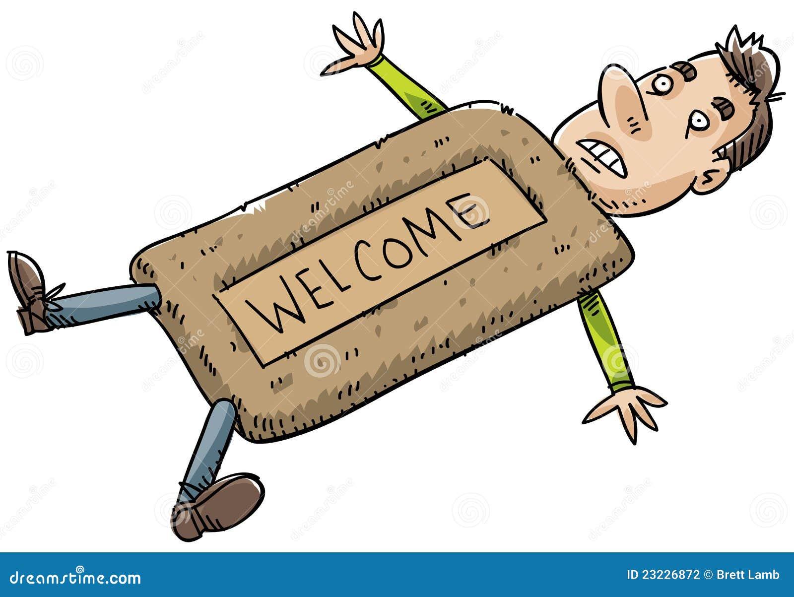 Doormat Man Stock Illustration Image Of Weak