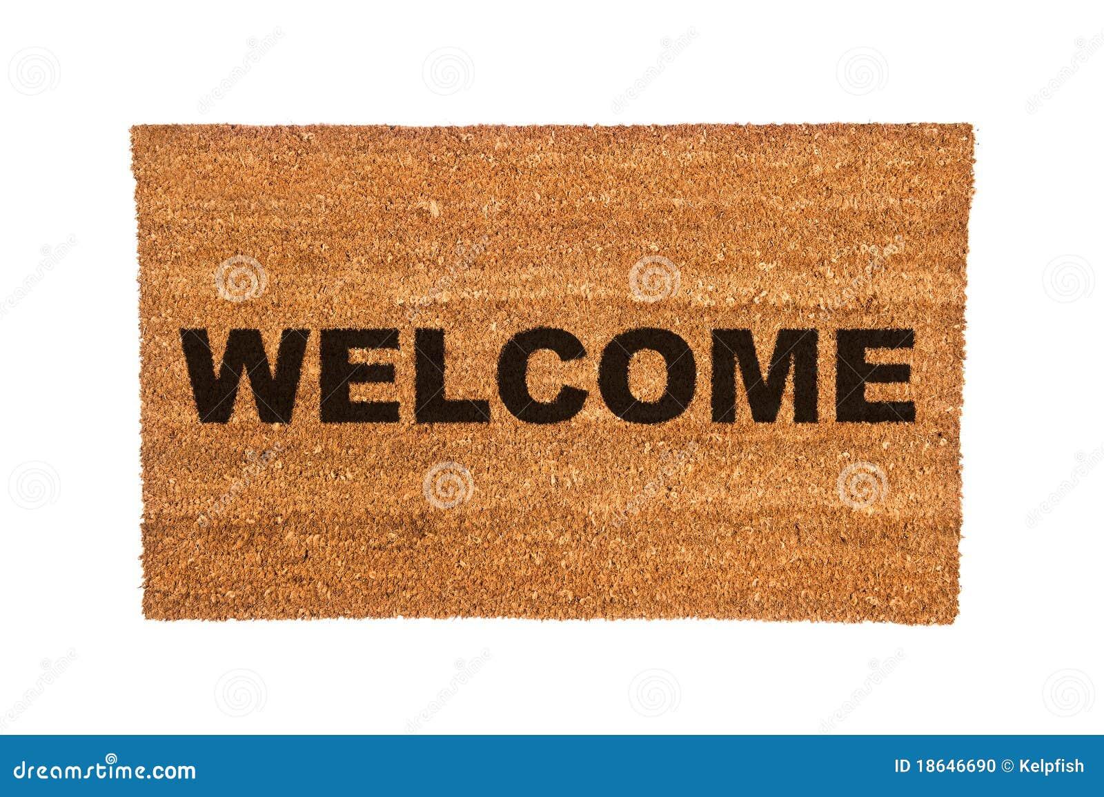 Doormat with Welcome Text