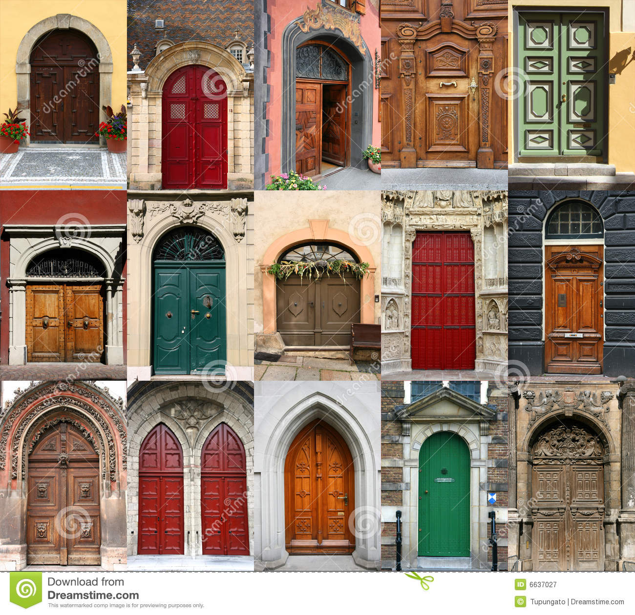 Doors Collection Stock Image Of Diversity Cities