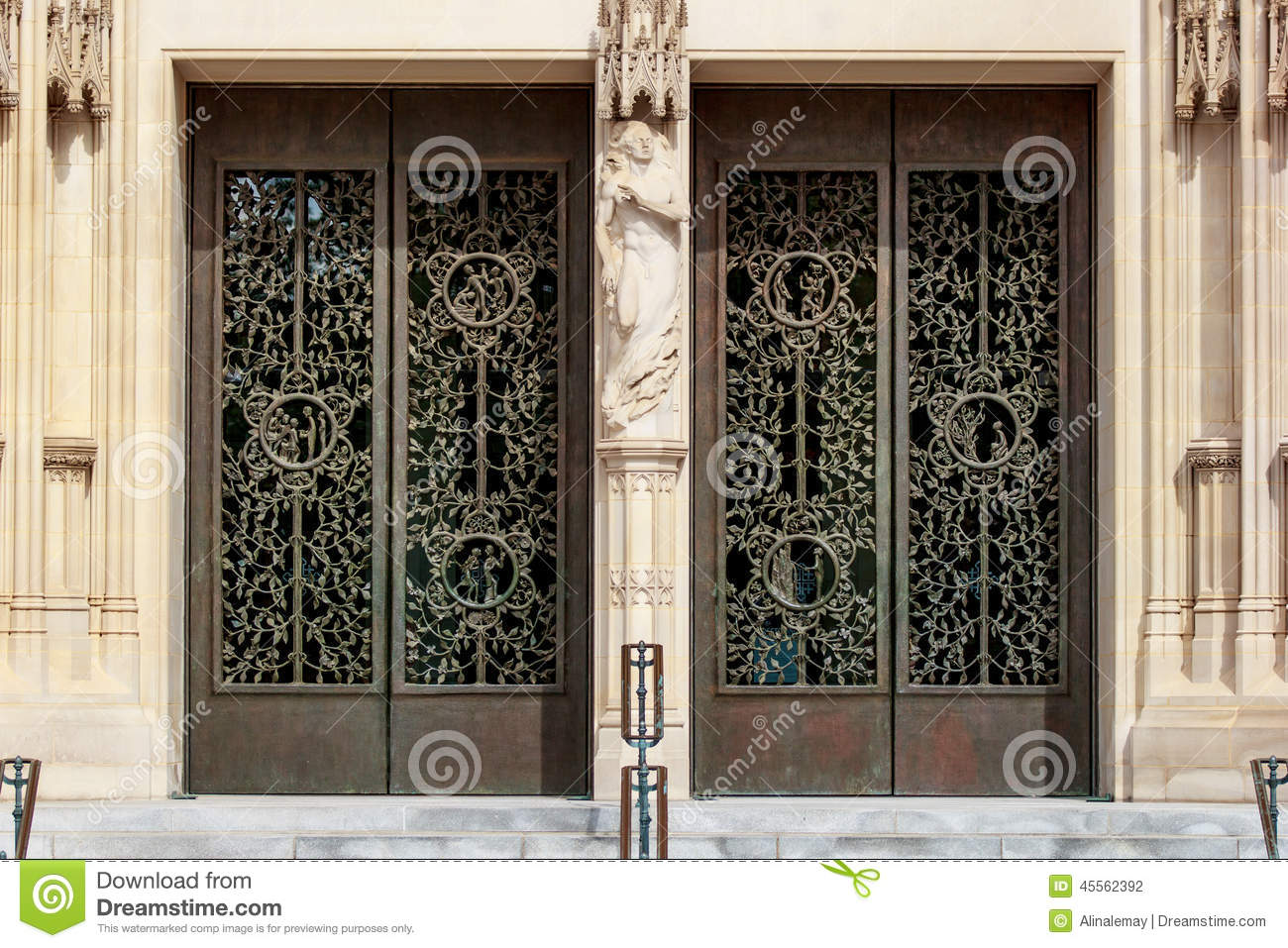 The doors of the Main Tower at the Washington National Cathedral & The Doors Of The Main Tower At The Washington National Cathedral ...