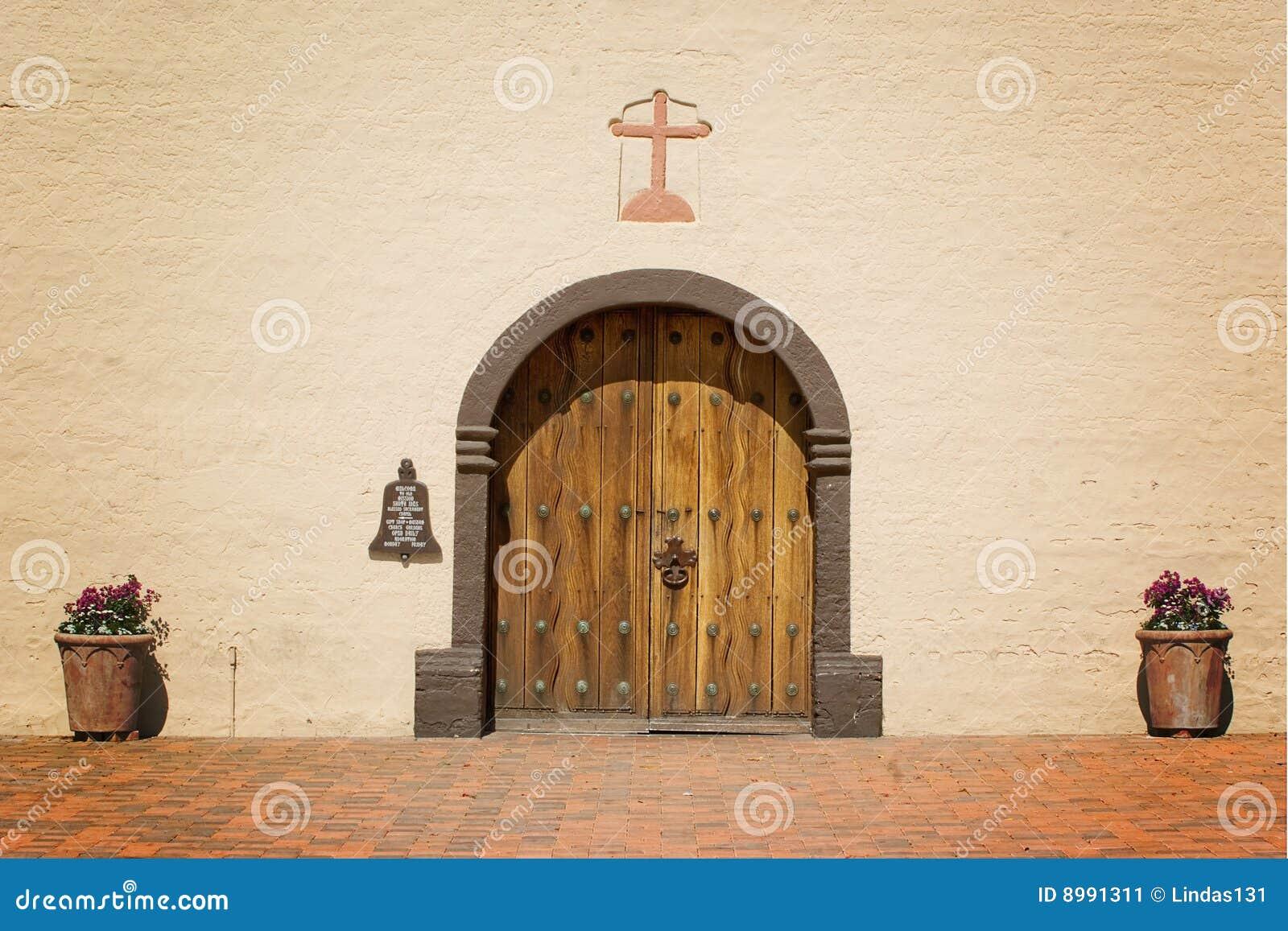Doors Mission Santa Ynez & Doors Mission Santa Ynez stock image. Image of yanez spanish - 8991311