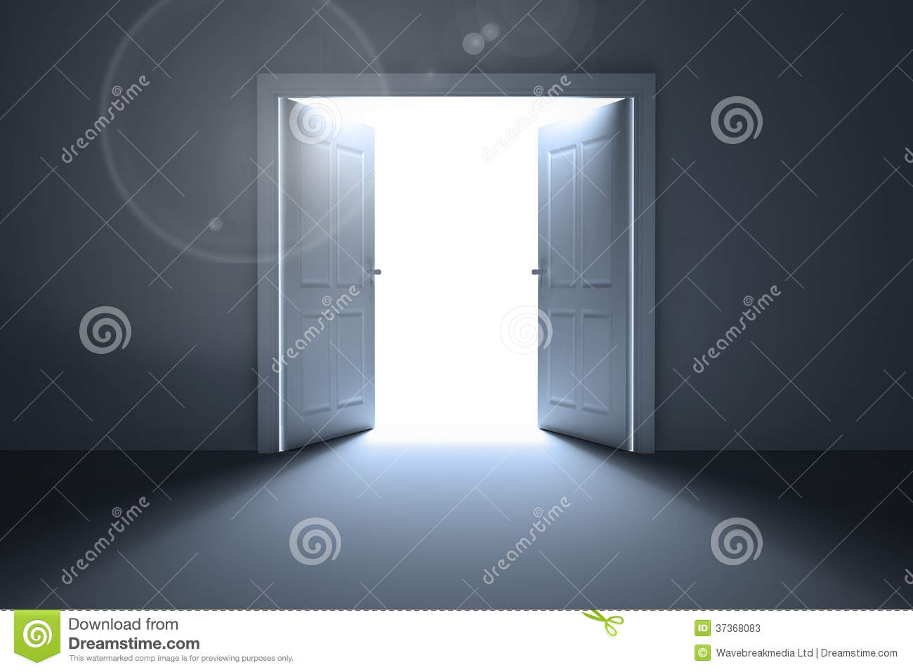 Doors opening revealing light stock photos image 37368083 for Door with light