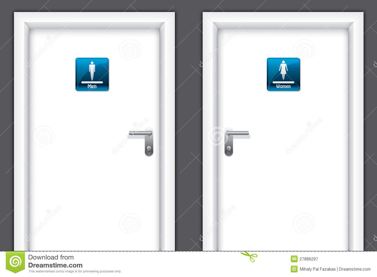 Doors With Restroom Symbols Royalty Free Stock Photography - Image ...