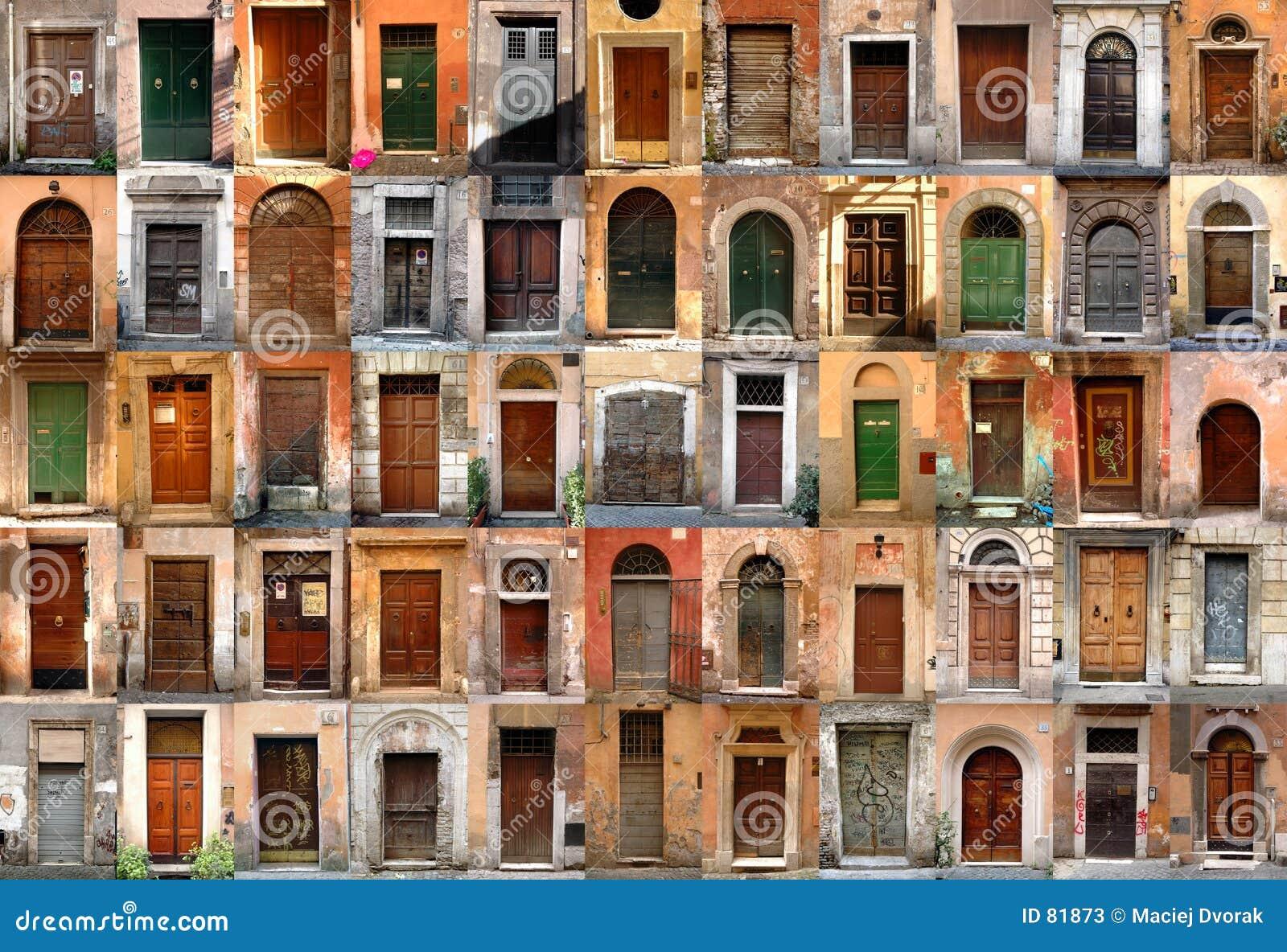 Doors - Rome Italy & Doors - Rome Italy stock image. Image of entrances facade - 81873 Pezcame.Com