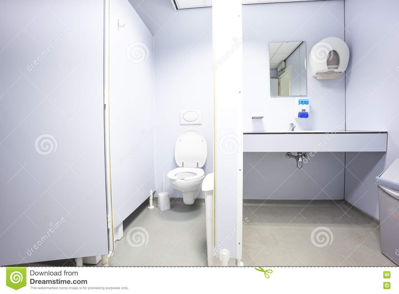 Doors From Toilets And Sinks Stock Image - Image of flush, water ...