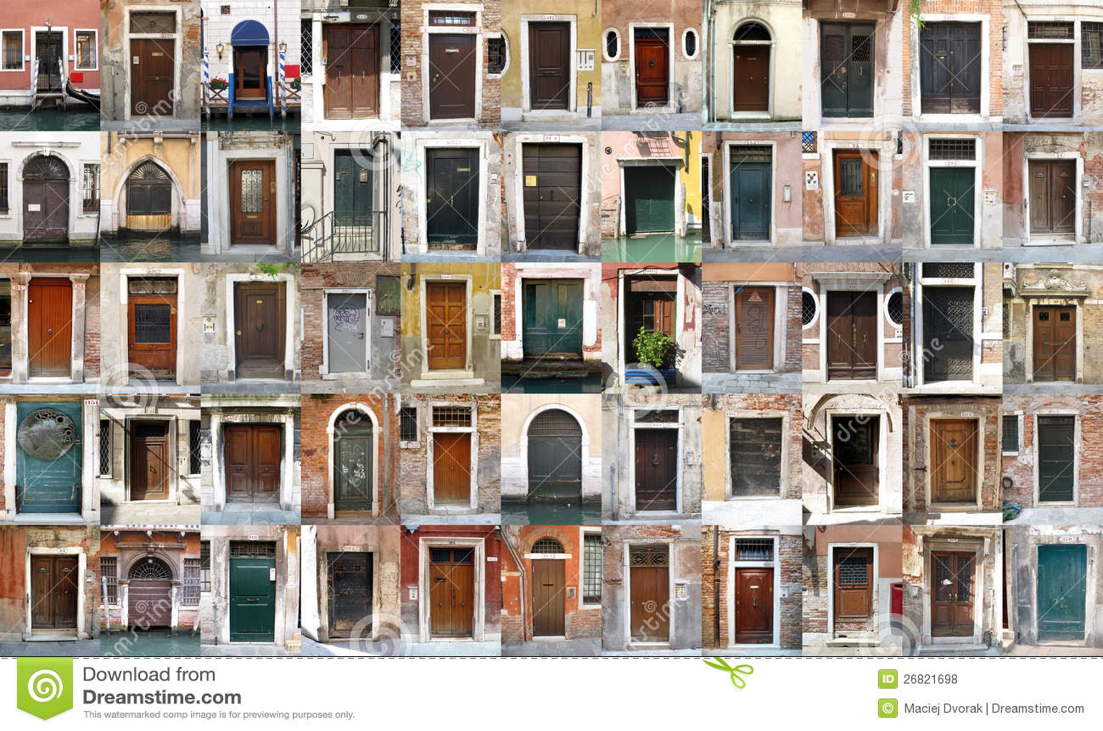 Doors Venice Italy Royalty Free Stock Photos Image