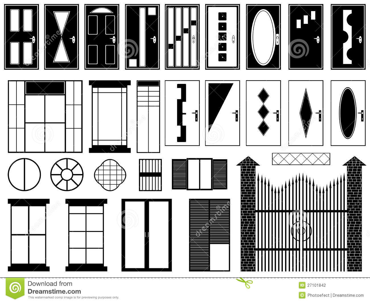 Doors And Windows Stock Photography - Image: 27101842
