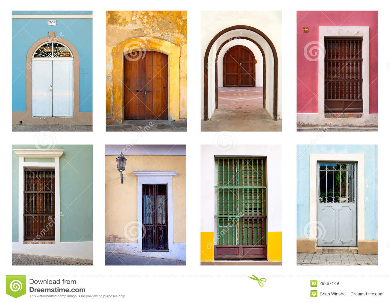 Doors And Windows Of Puerto Rico Stock Image Image 29367149