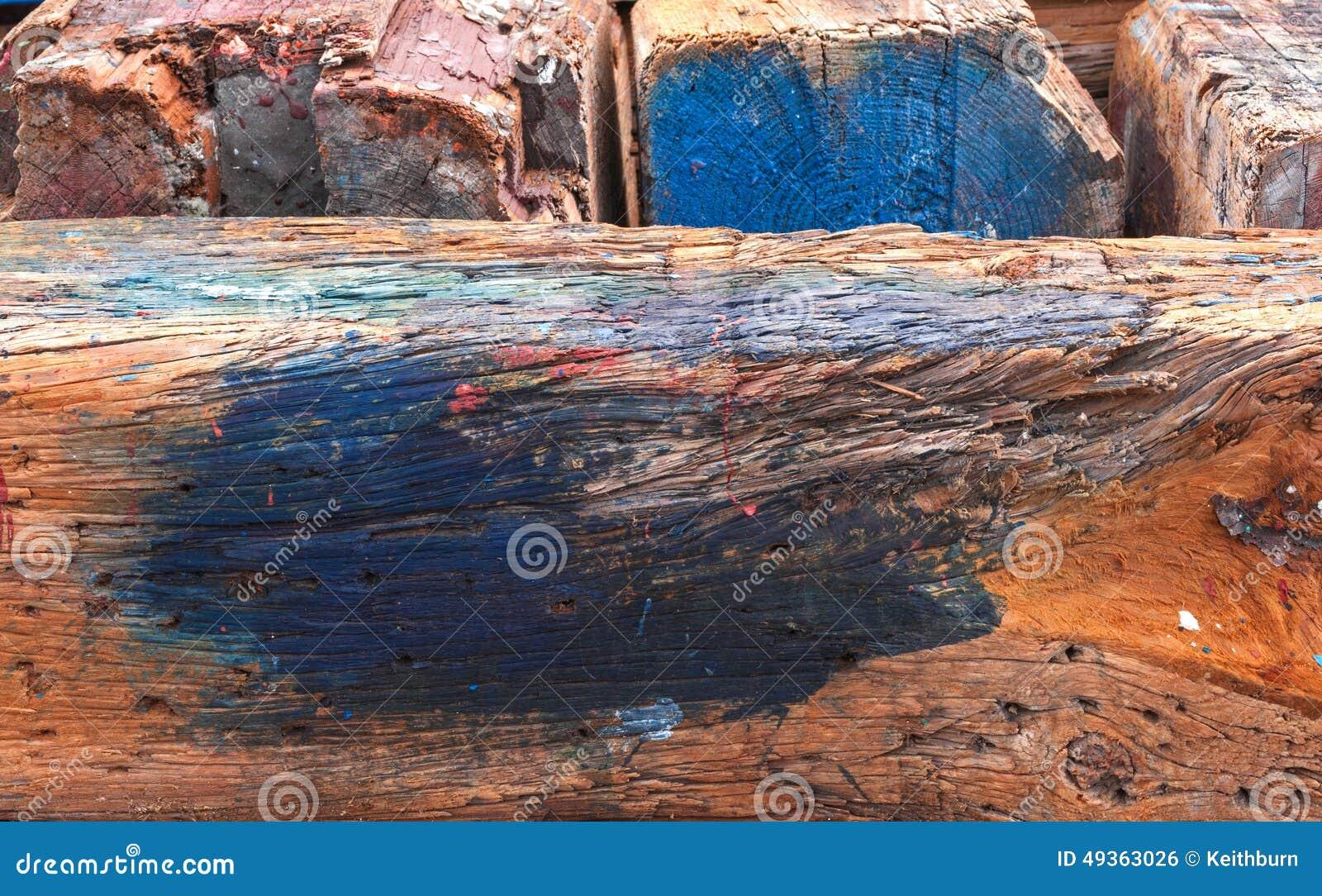 Doorstaan hout met verfvlekken achtergrond stock foto afbeelding 49363026 - Hout verfvlek ...