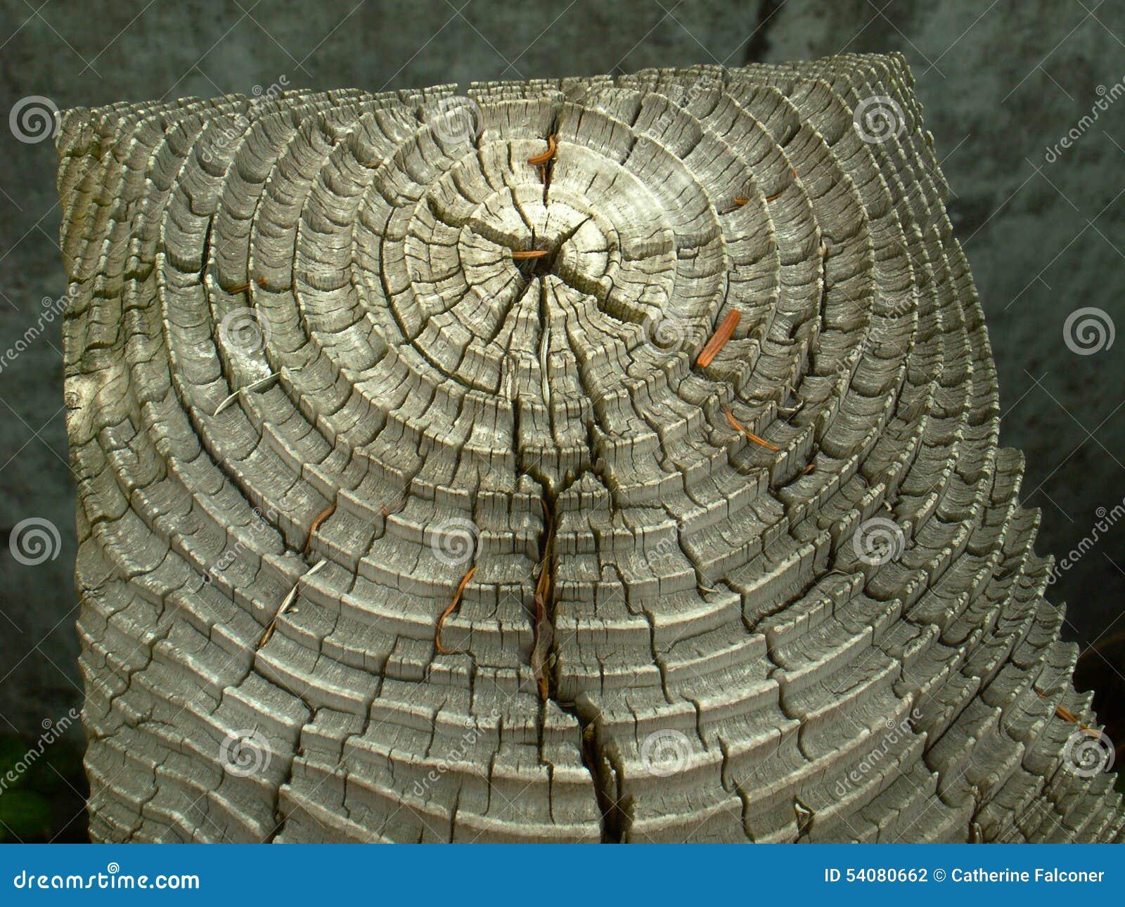 Doorstane houten korrel