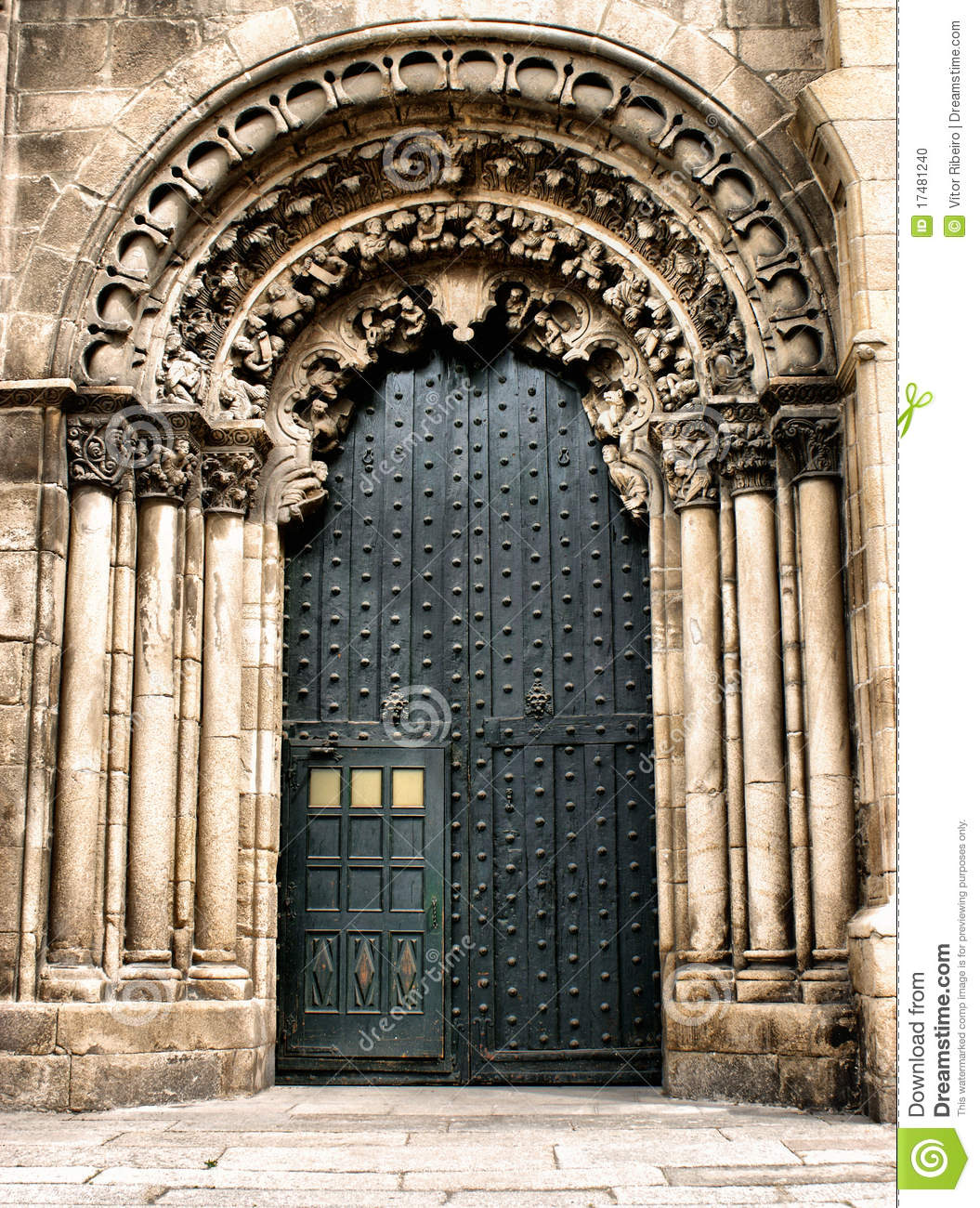 Doorway of Ourense cathedral