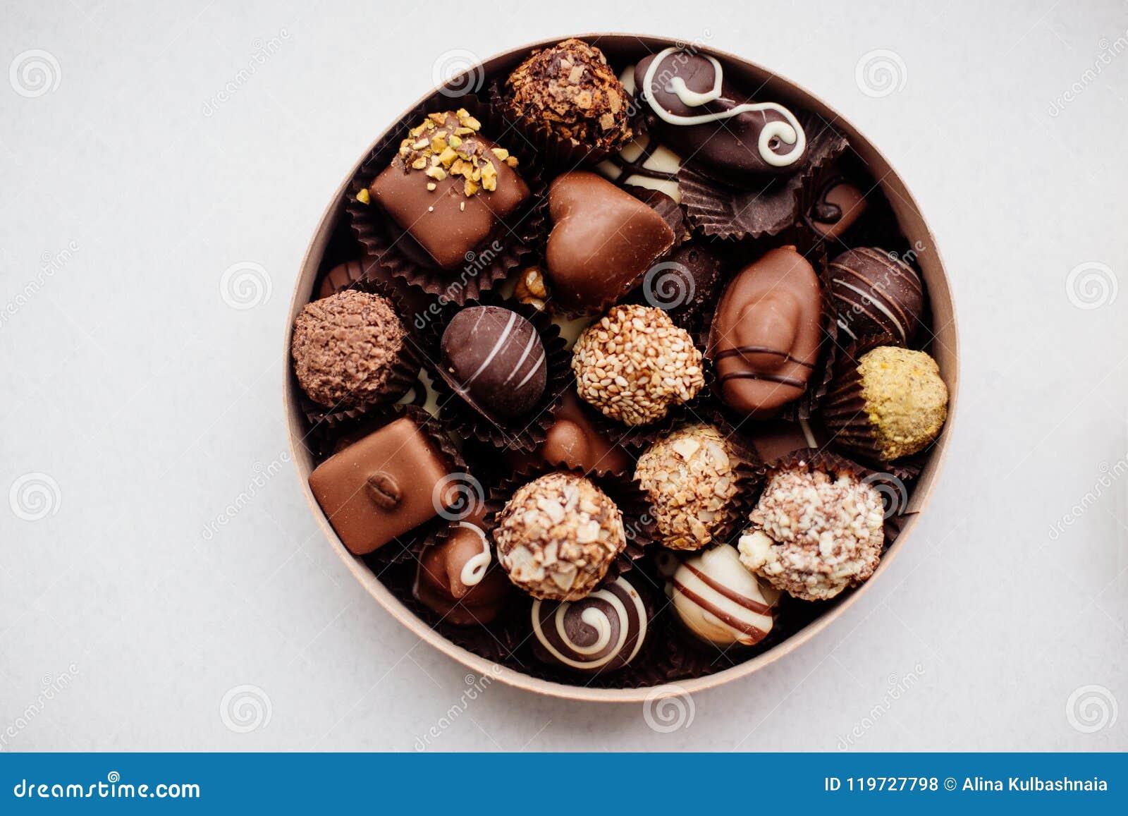 Doos van Chocoladesuikergoed