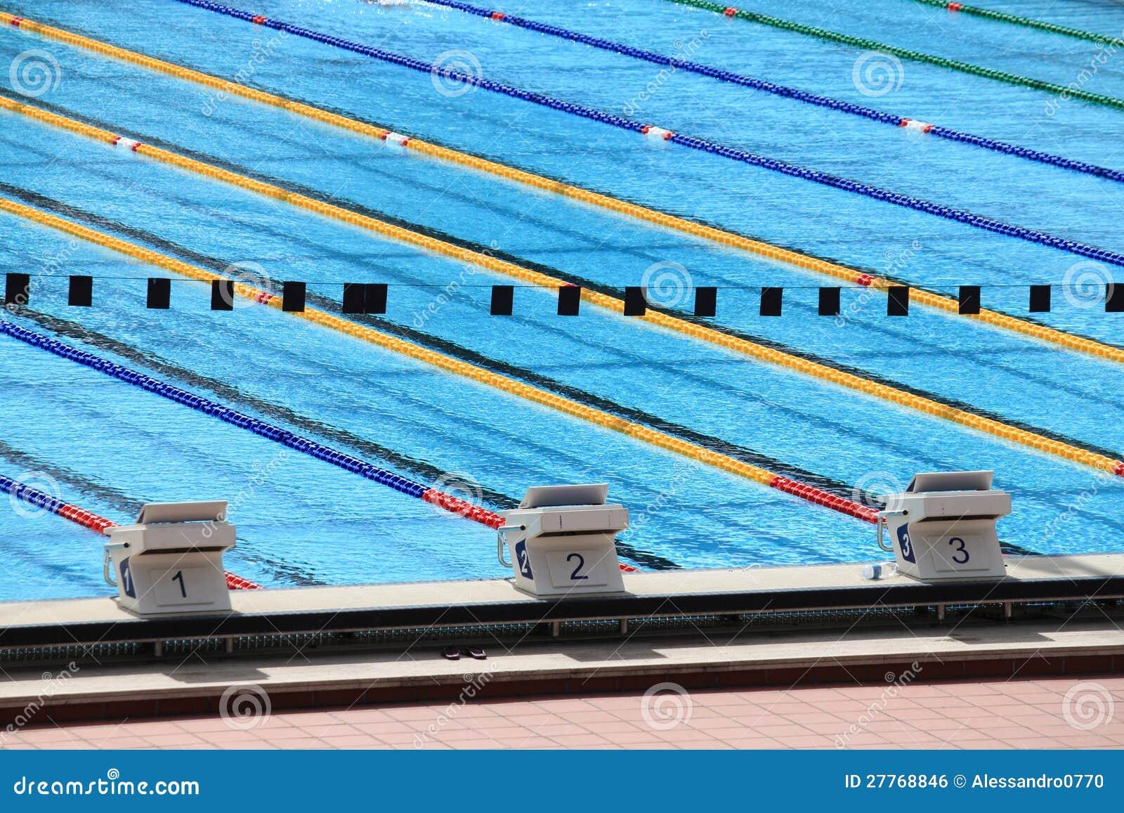 Dopłynięcie olimpijski basen