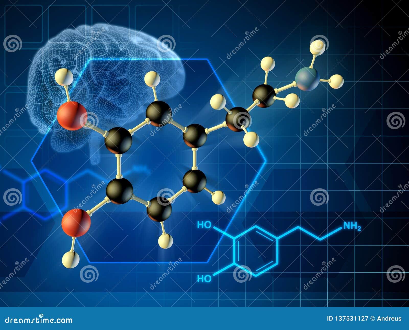 Dopaminemolekyl