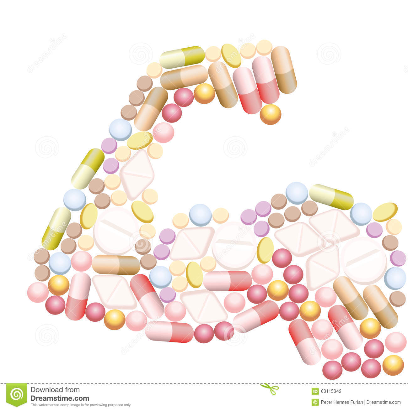 Doping Anabolic Muscle Drugs Pills Stock Illustration