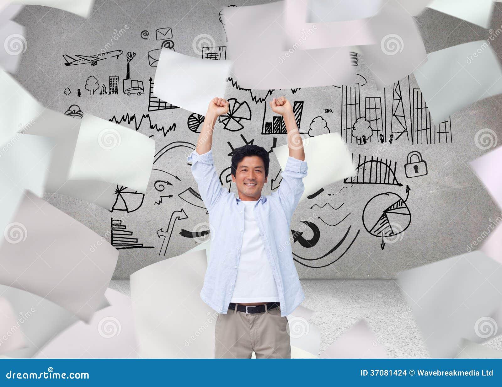 Download Doping samiec z rękami up ilustracji. Ilustracja złożonej z osoba - 37081424