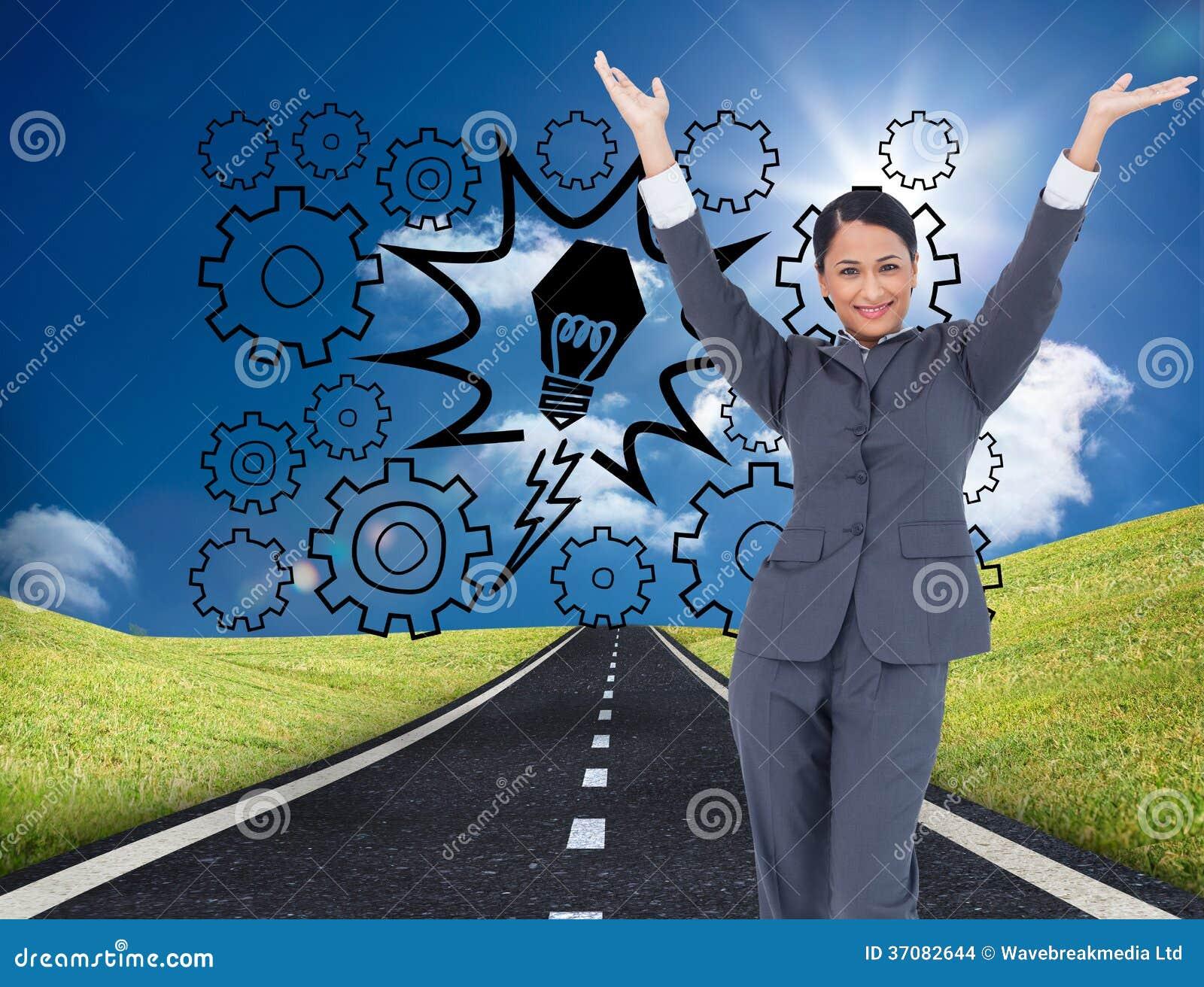 Download Dopingu bizneswoman zdjęcie stock. Obraz złożonej z droga - 37082644