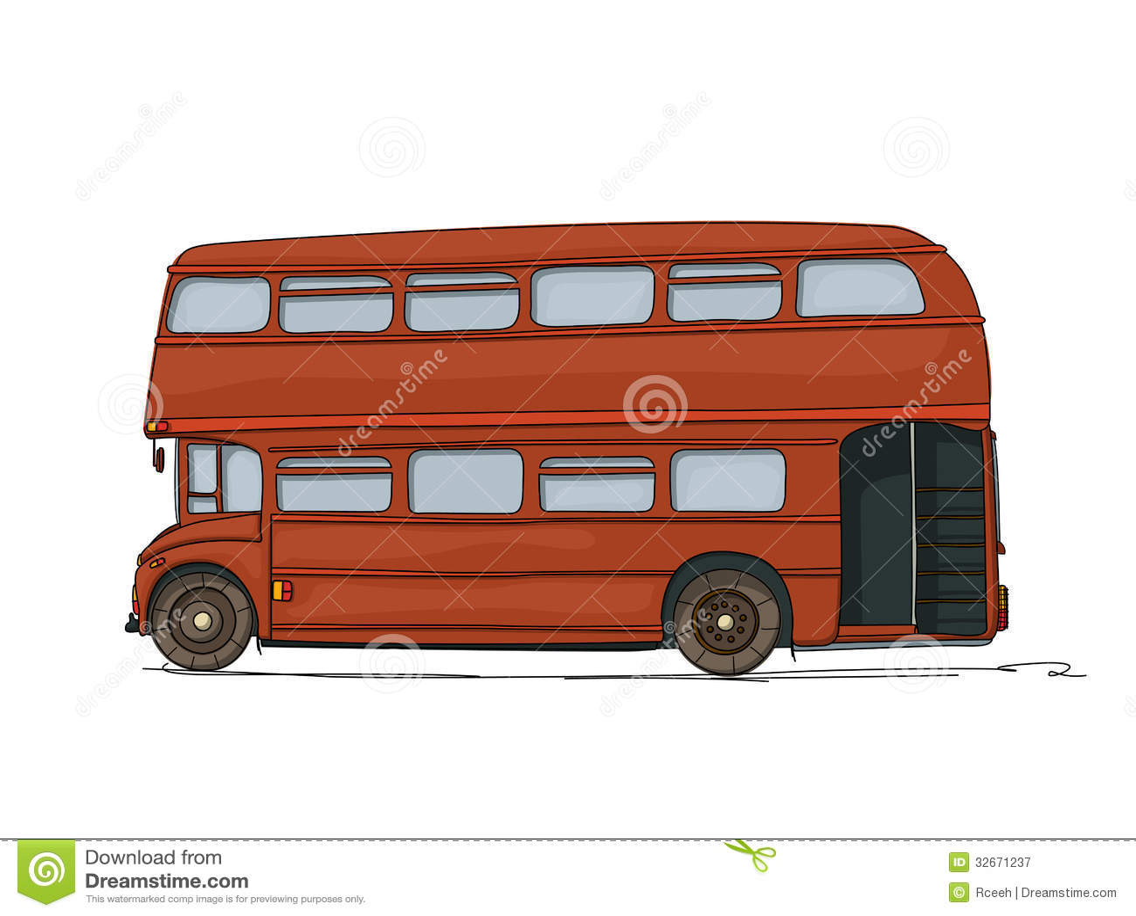 Doppeldeckerbus Lizenzfreie Stockfotografie