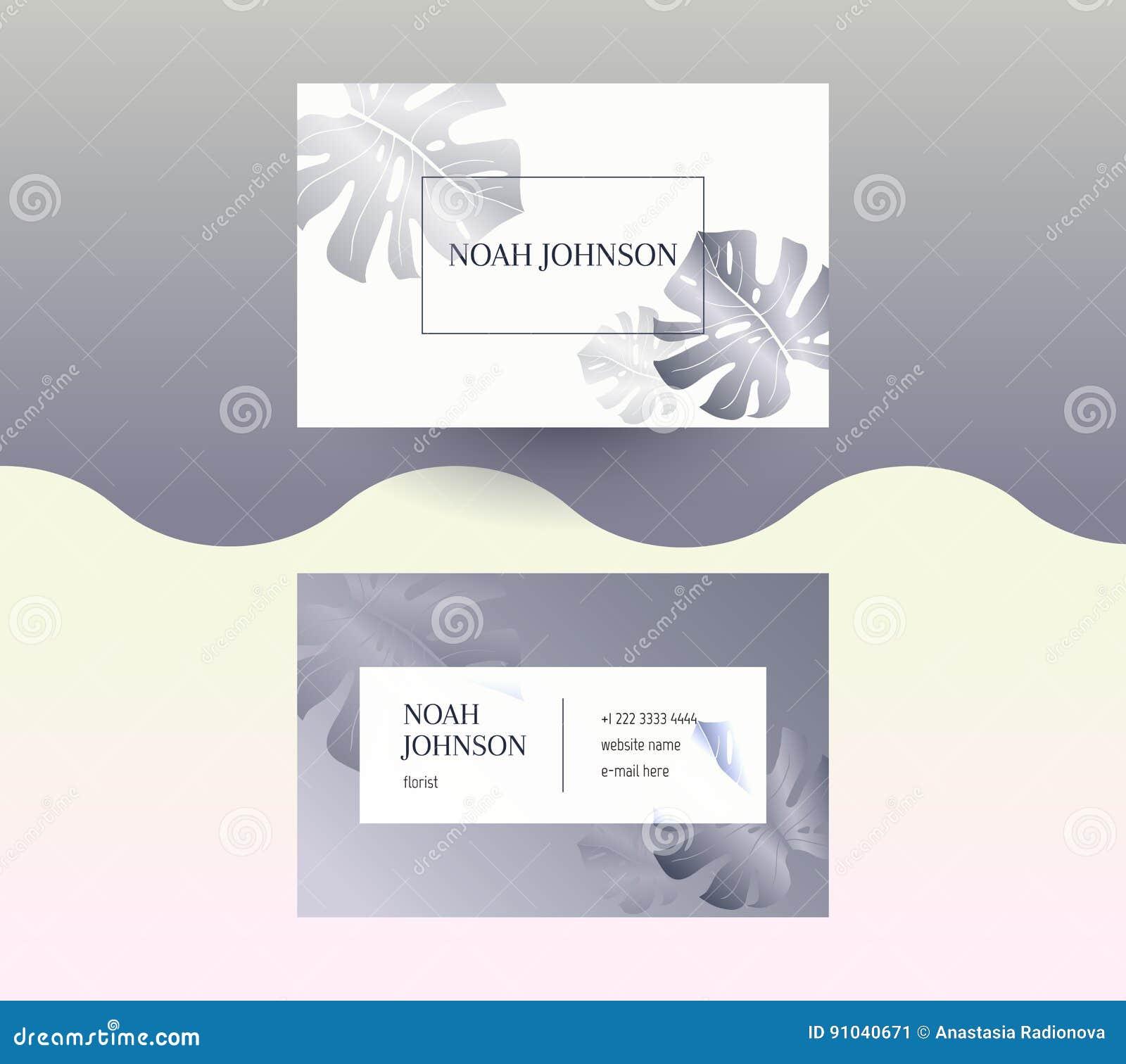 Doppelseitige Visitenkarte In Der Graphitfarbe Vektor