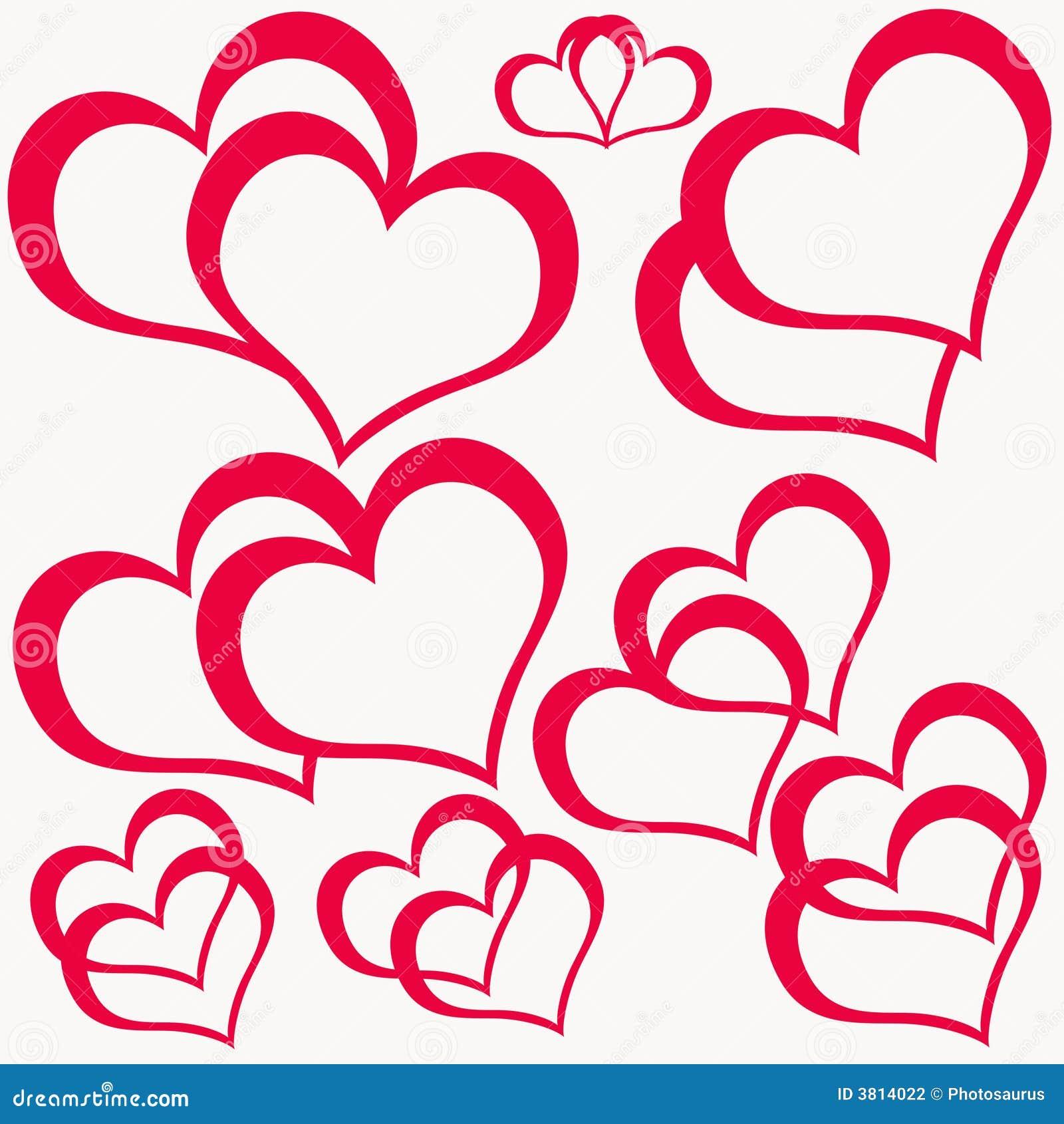 Doppi cuori rossi illustrazione di stock immagine di for Immagini di cuori rossi