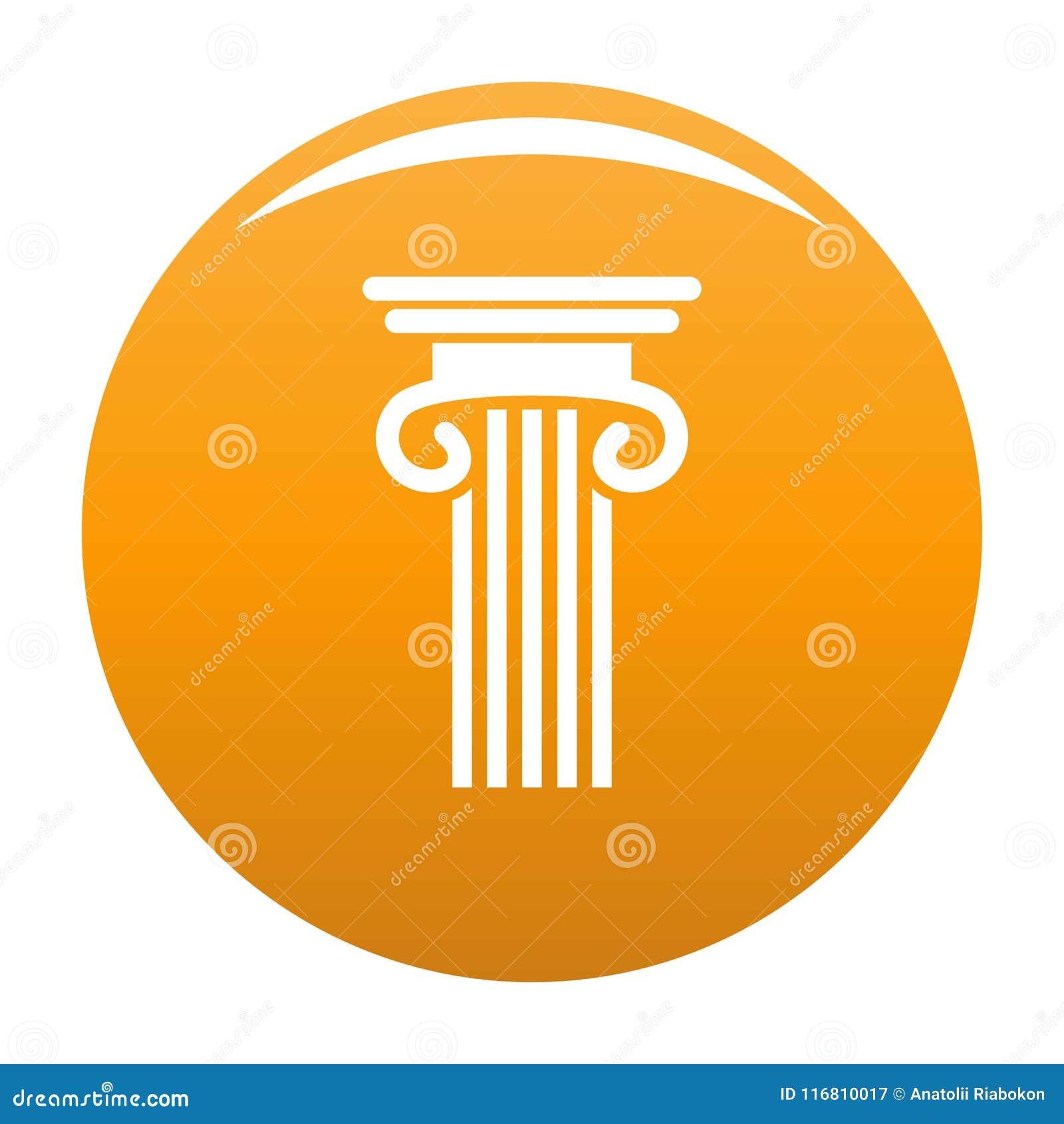 Doppia arancia colonnata di vettore dell icona della colonna