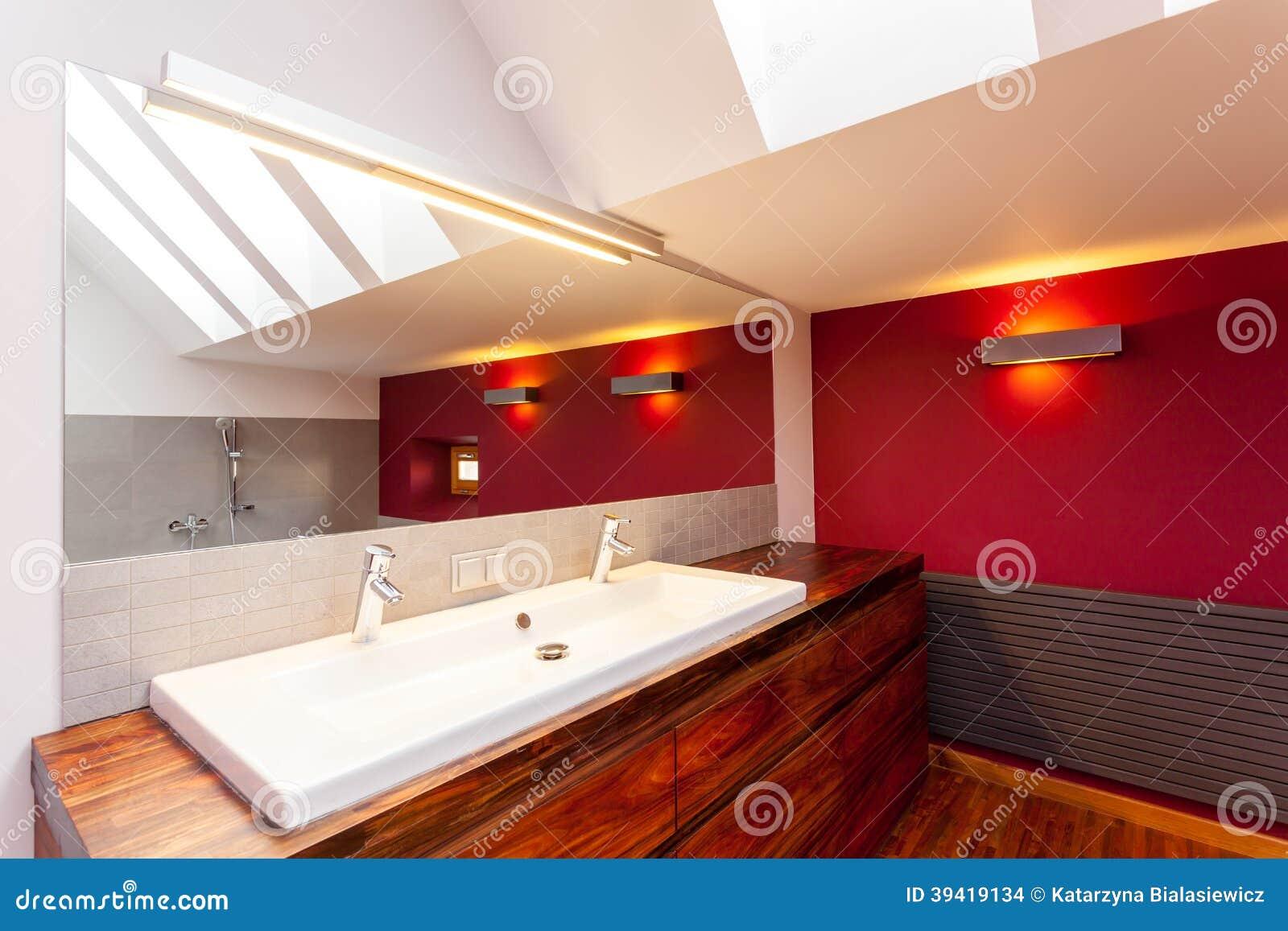 Doppio lavandino in bagno fotografia stock immagine di originale