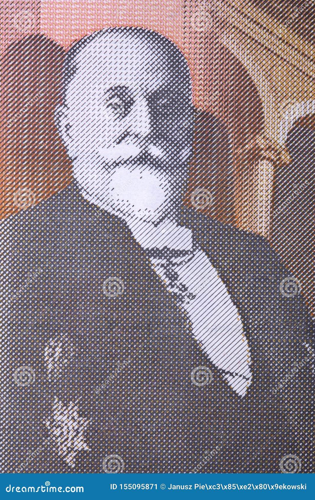 Dorđe Vajfert en stående från serbiska pengar