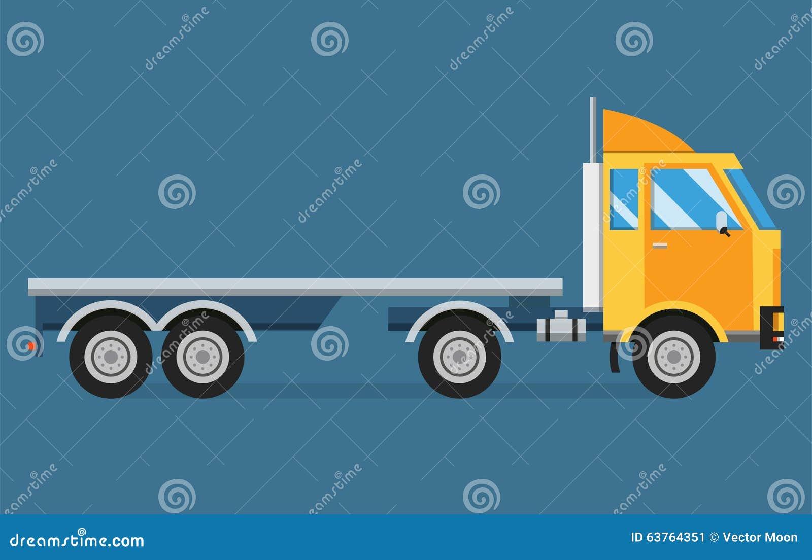 Doręczeniowy wektoru transportu ciężarówki samochód dostawczy i prezenta pudełko