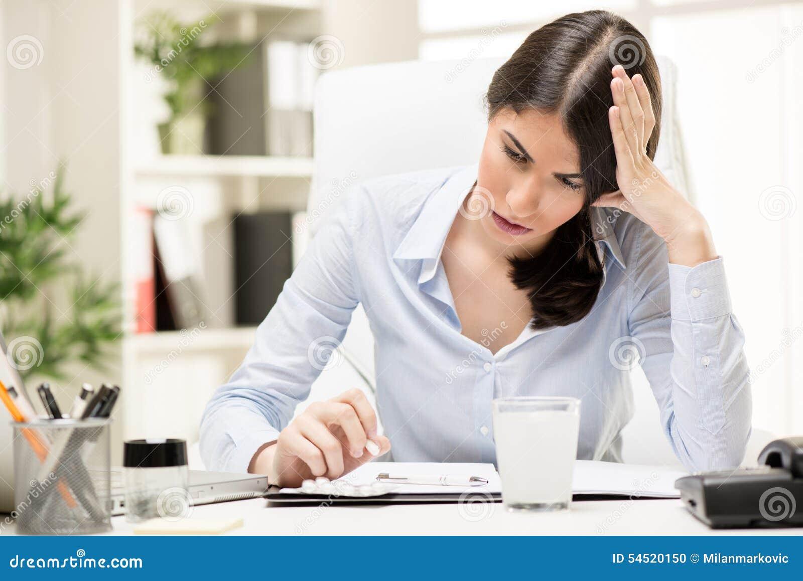 Dor de cabeça no trabalho