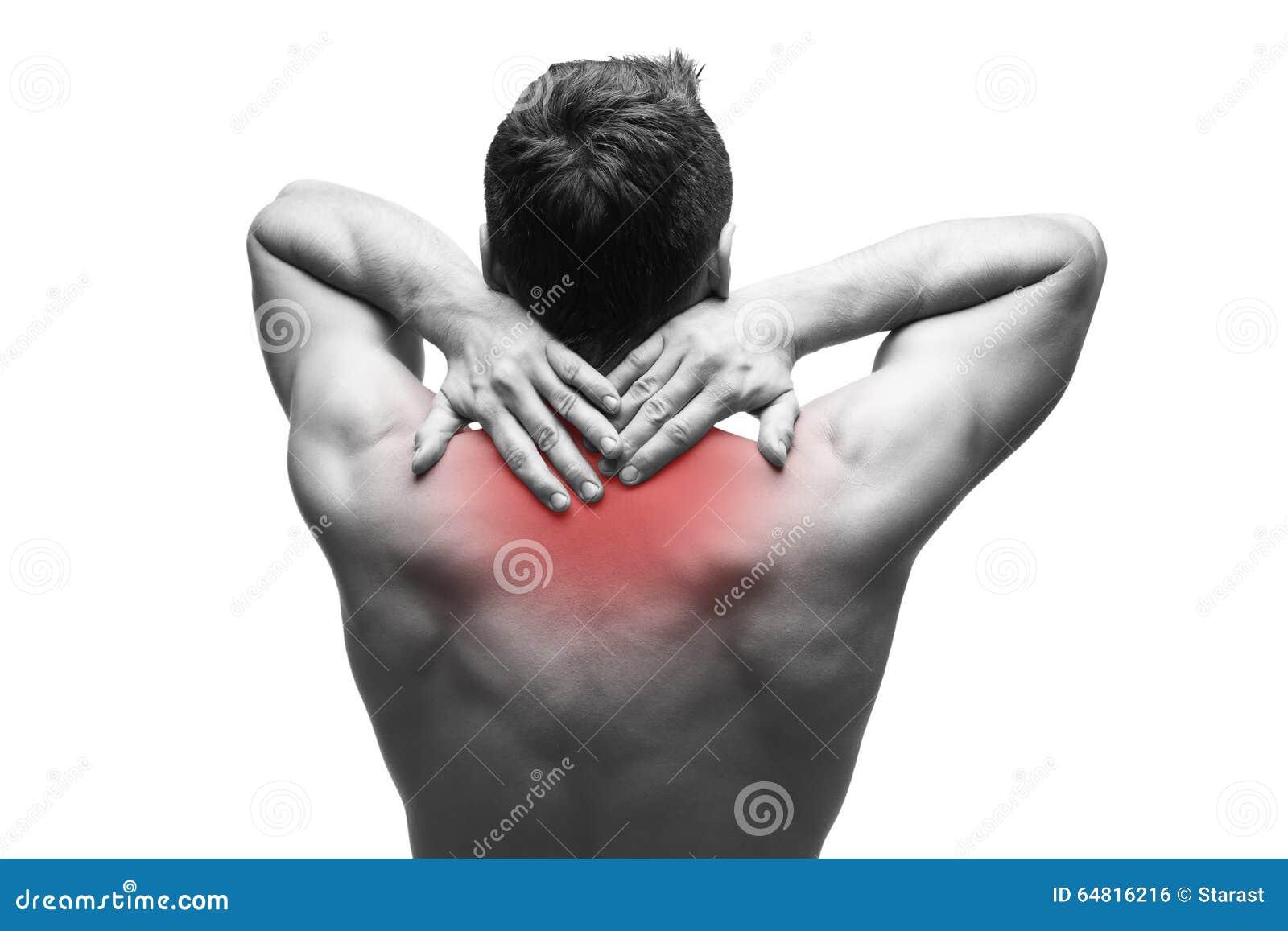 Anatomia Do Homem Com Dor Nas Costas Superior Ilustração Stock ...