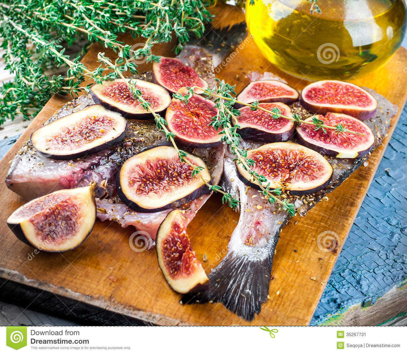Dorado fish with figs stock image image 35267731 for About mediterranean cuisine