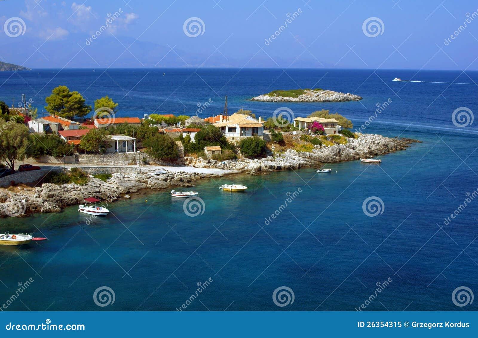 Dorf auf Halbinsel