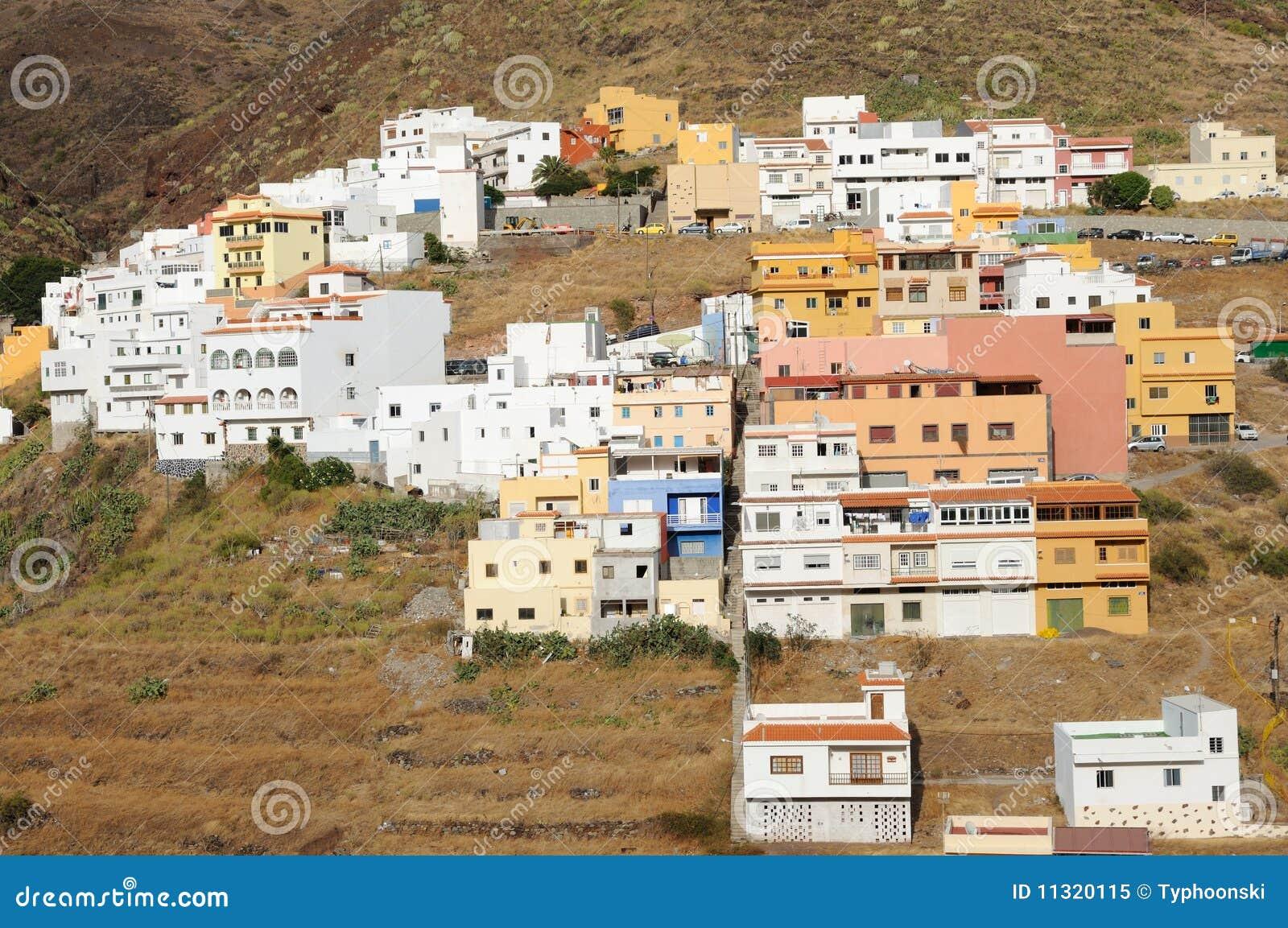 Dorf in den Bergen. Tenerife, Spanien